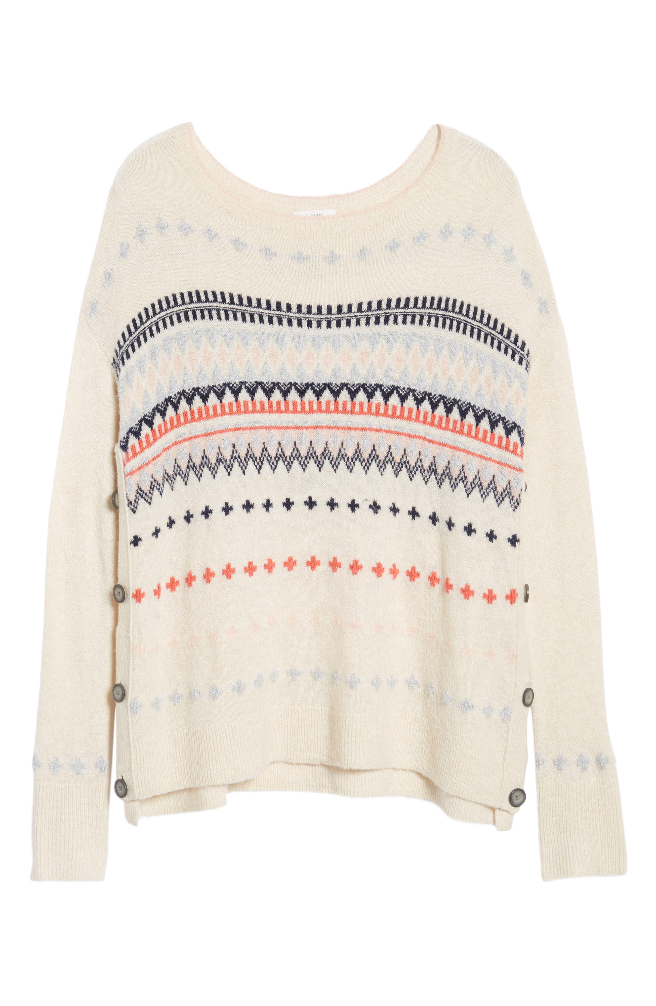 Alternate Image 6  - Caslon® Long Sleeve Side Button Sweater (Regular & Petite)