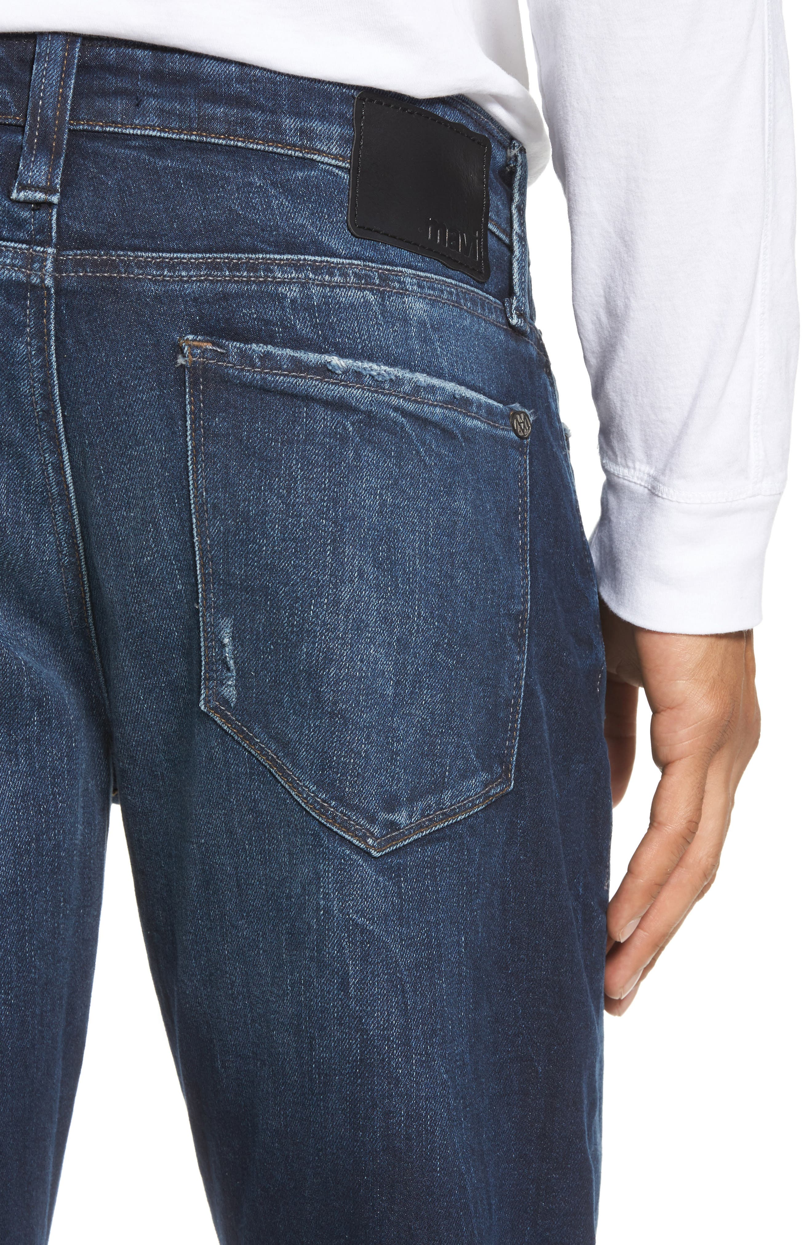 Alternate Image 4  - Mavi Jeans Marcus Slim Straight Leg Jeans (Deep Authentic Vintage)