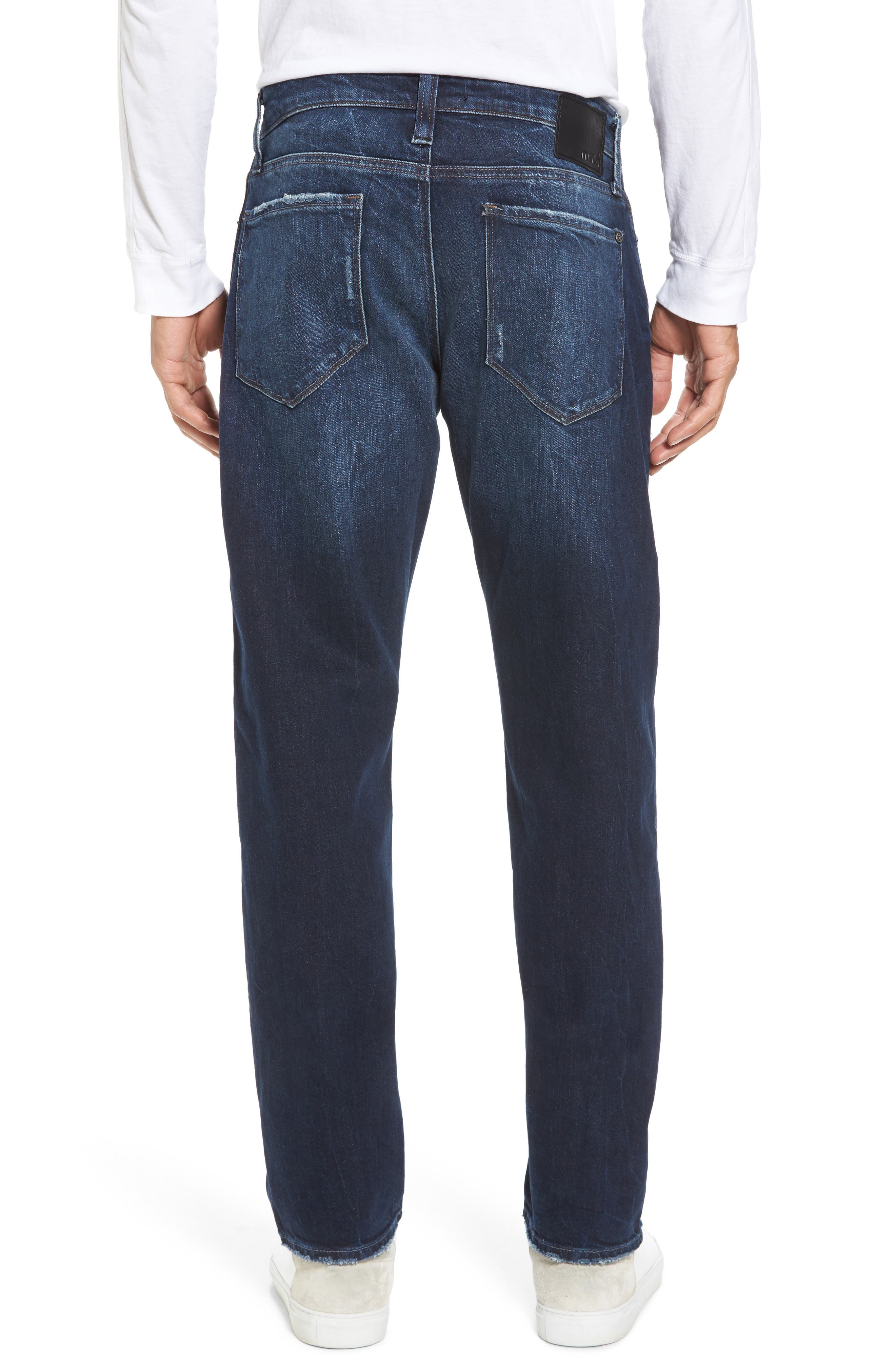 Alternate Image 2  - Mavi Jeans Marcus Slim Straight Leg Jeans (Deep Authentic Vintage)