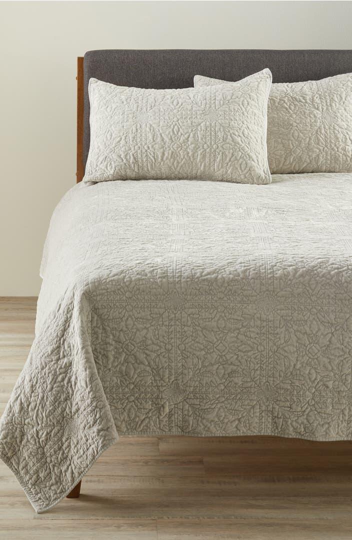 Nordstrom At Home Washed Velvet Quilt Nordstrom