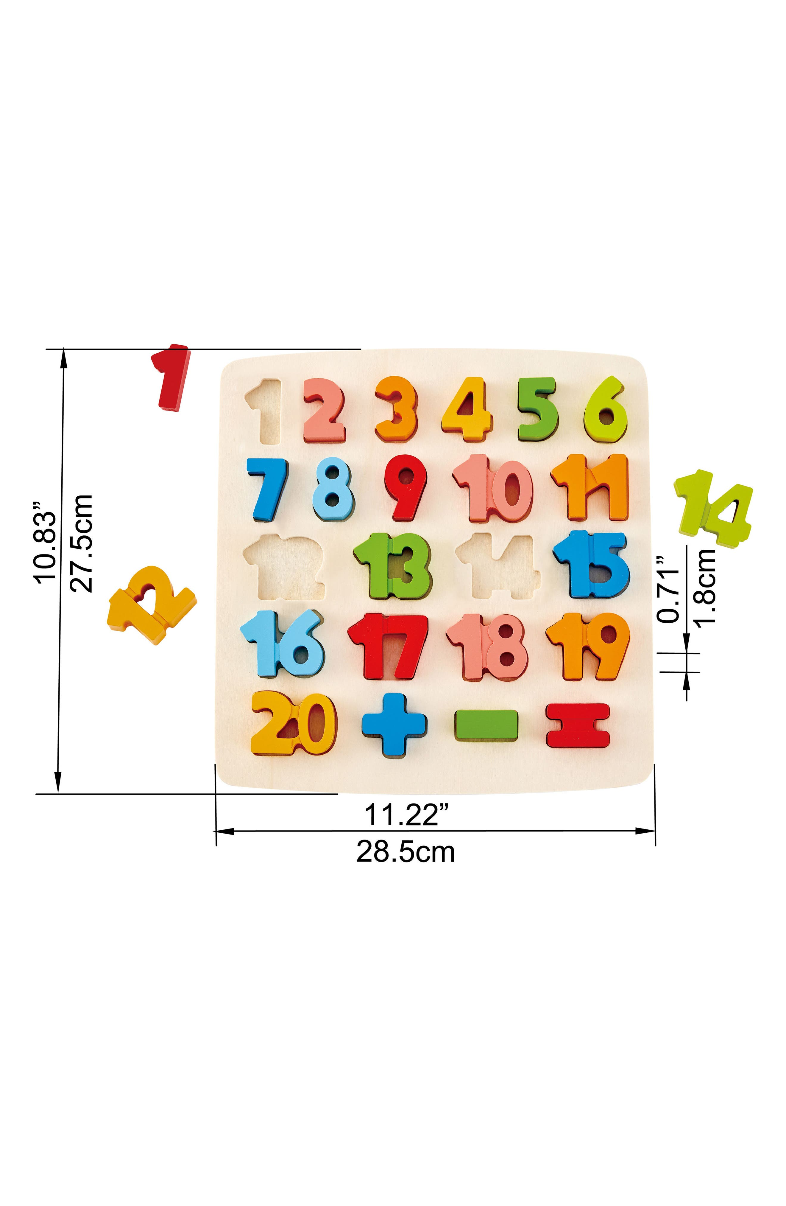 24-Piece Chunky Math Puzzle,                             Alternate thumbnail 2, color,                             Green