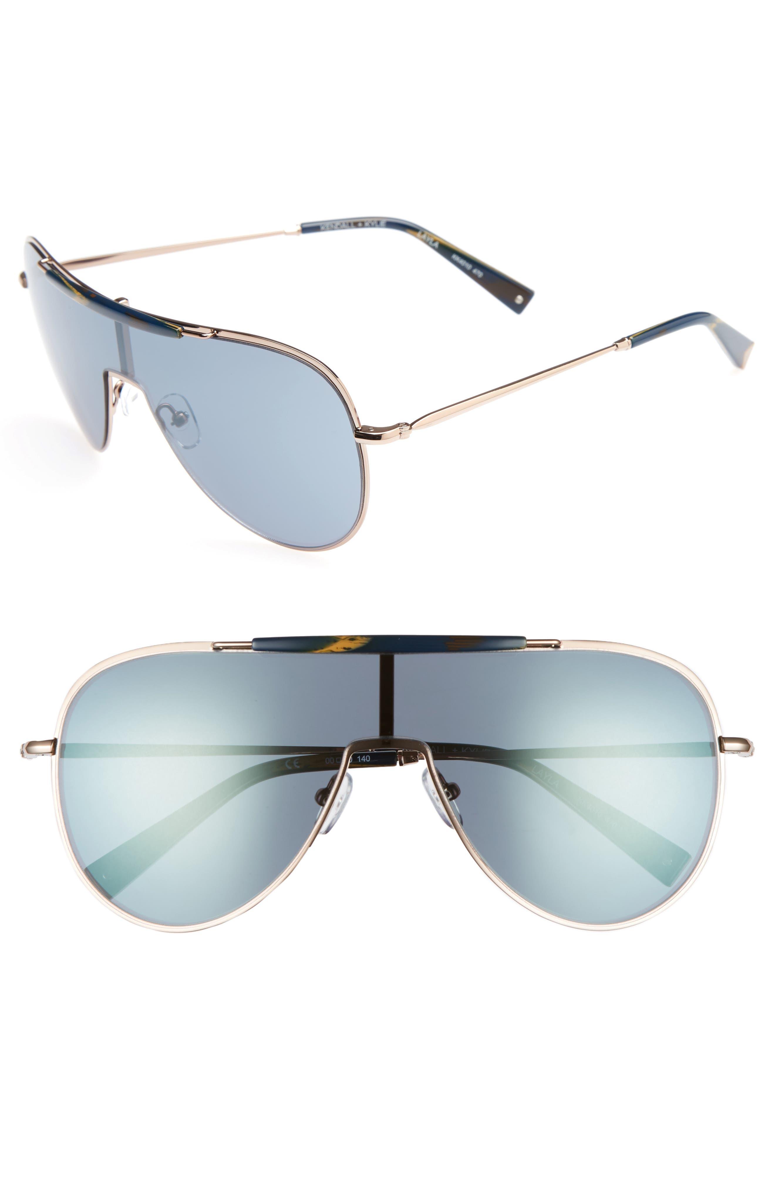 KENDALL + KYLIE Shield Aviator Sunglasses