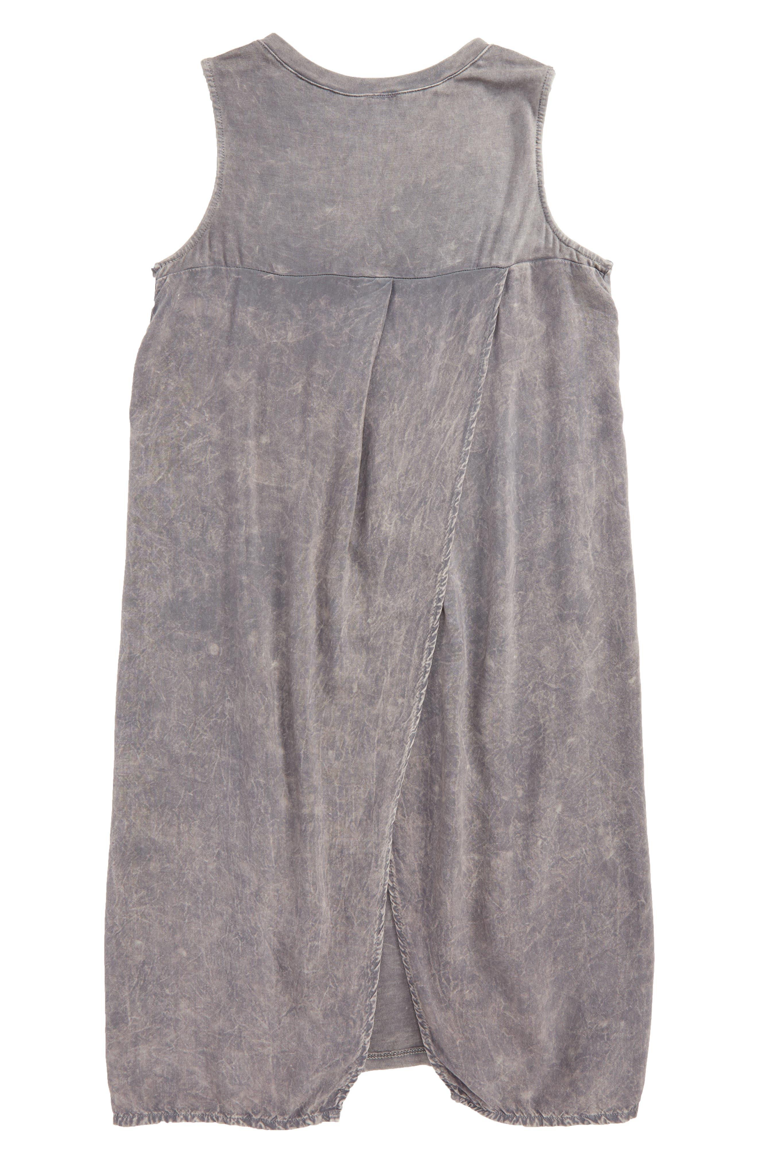 Mineral Wash Sleeveless Tunic,                             Alternate thumbnail 2, color,                             Charcoal