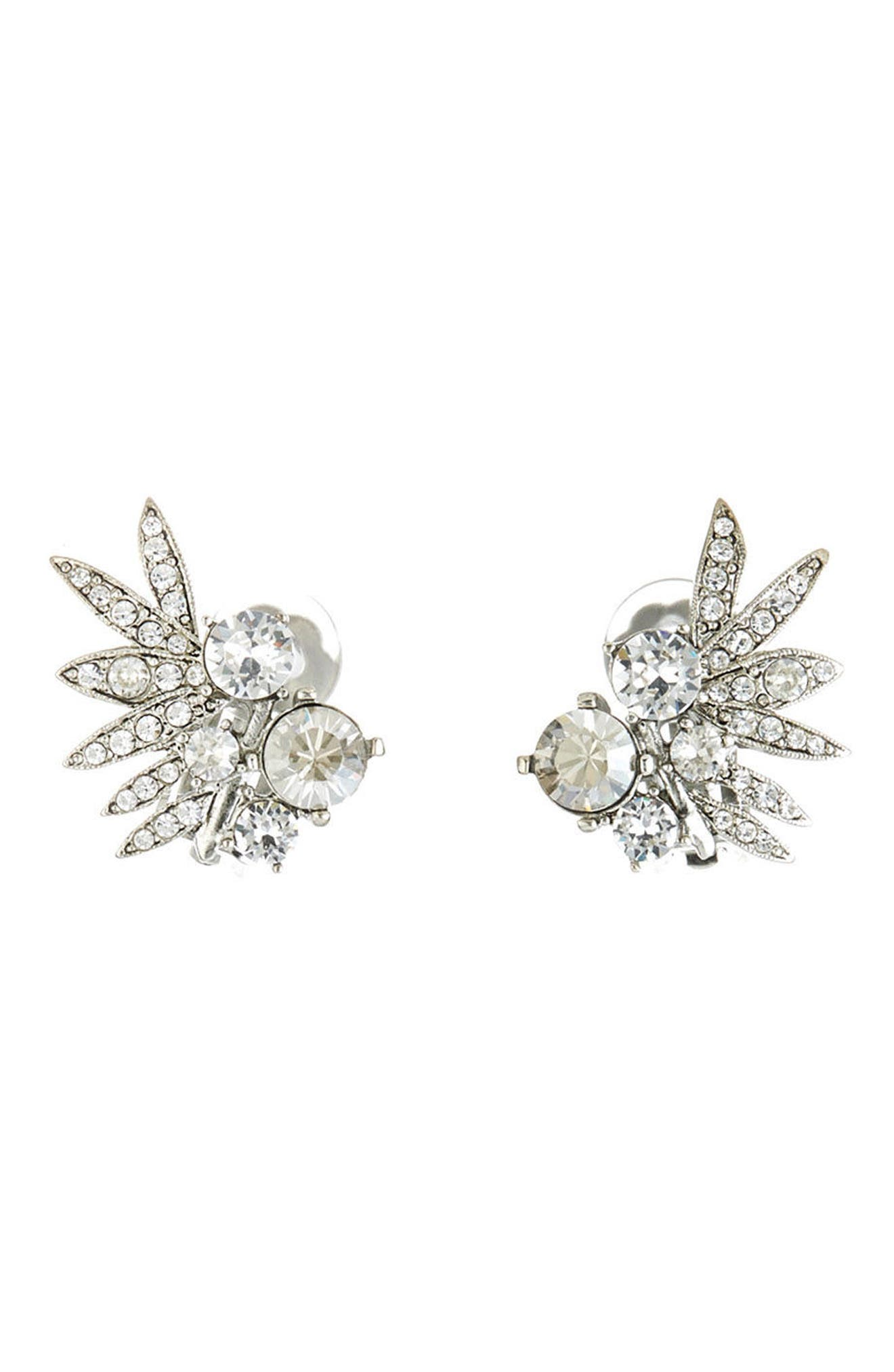 Main Image - Oscar de la Renta Tropical Palm Stud Earrings