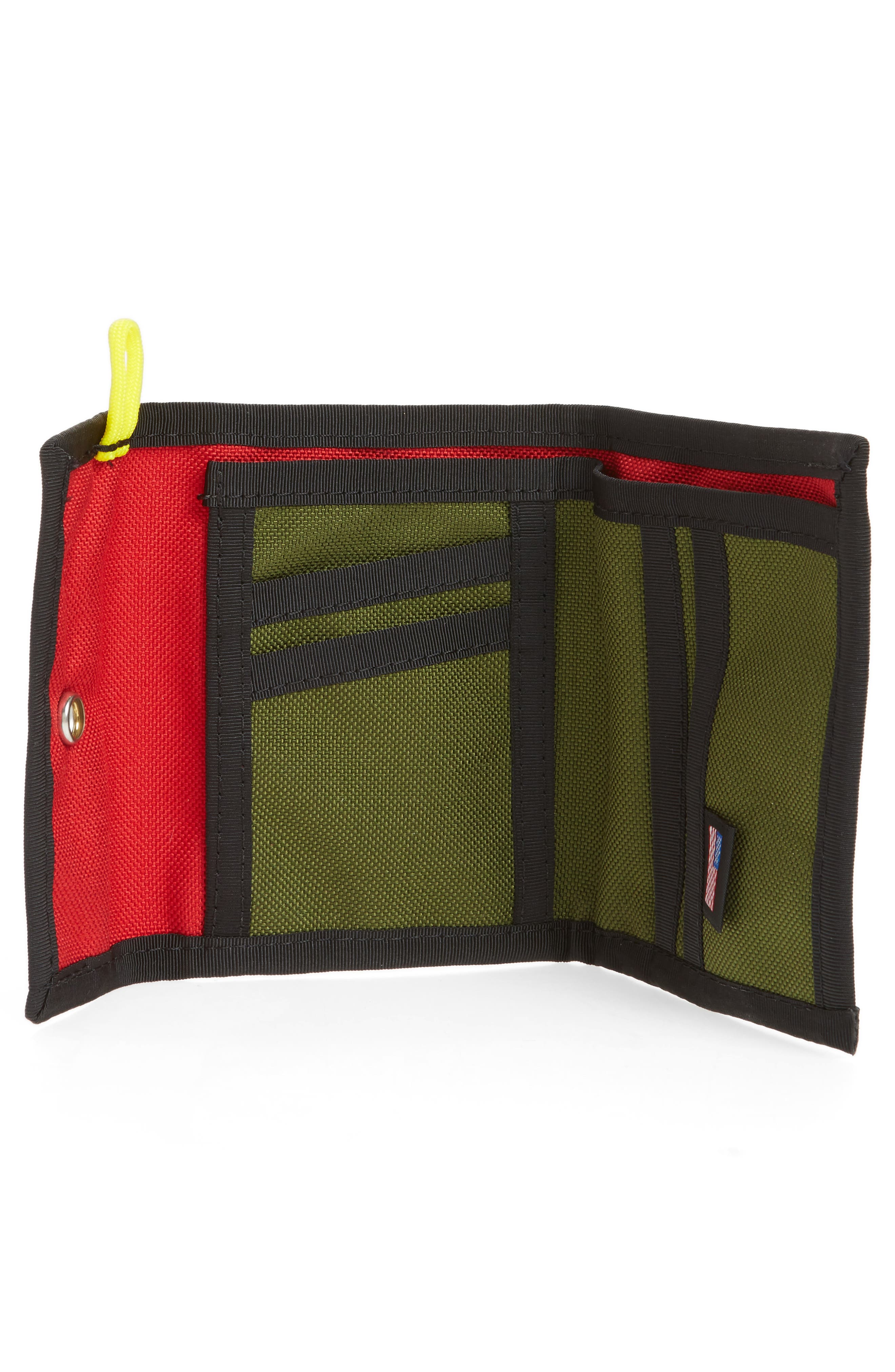 Snap Wallet,                             Alternate thumbnail 2, color,                             Red/ Olive