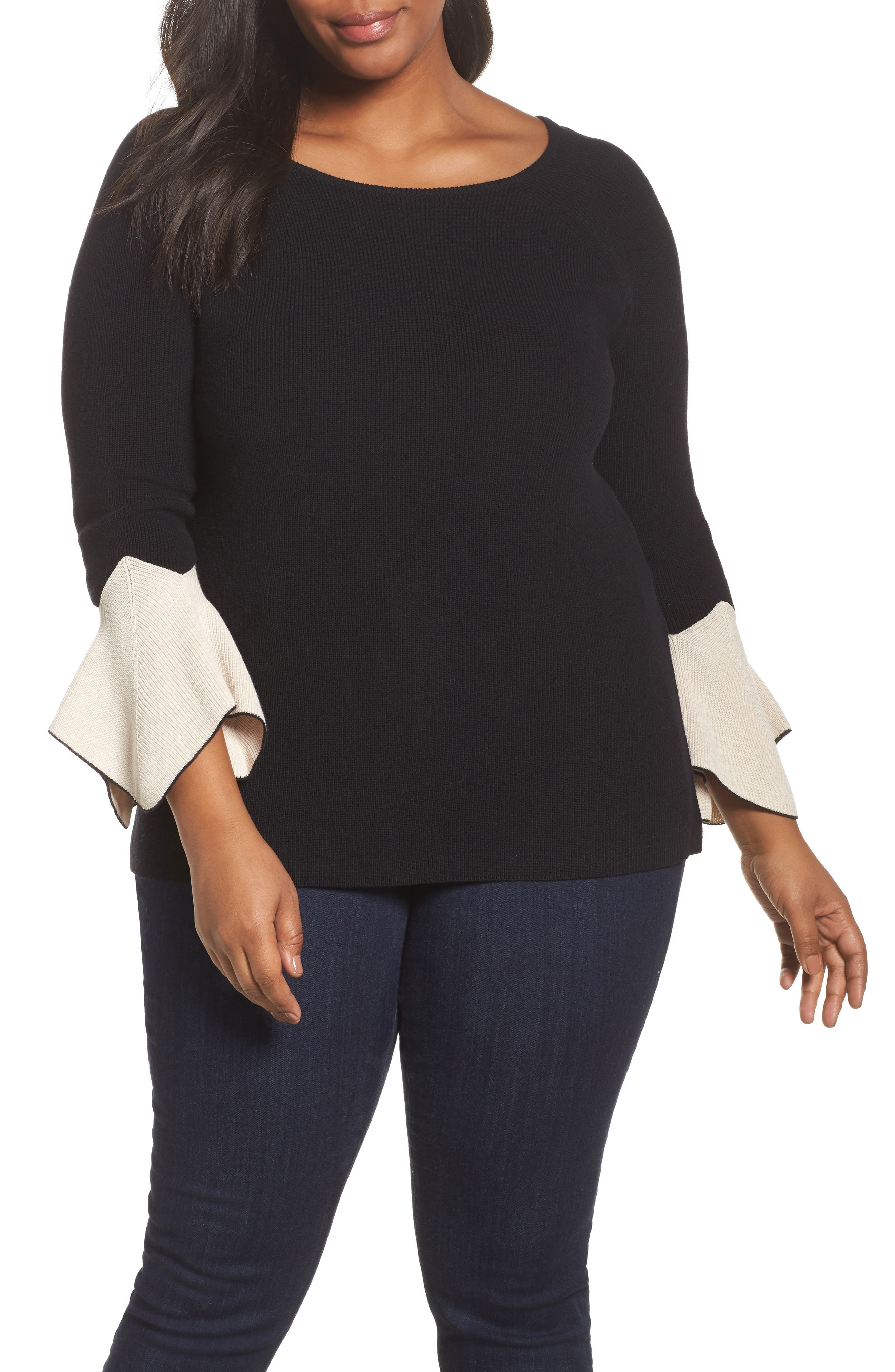 Alternate Image 1 Selected - NIC+ZOE Crystal Cuff Top (Plus Size)
