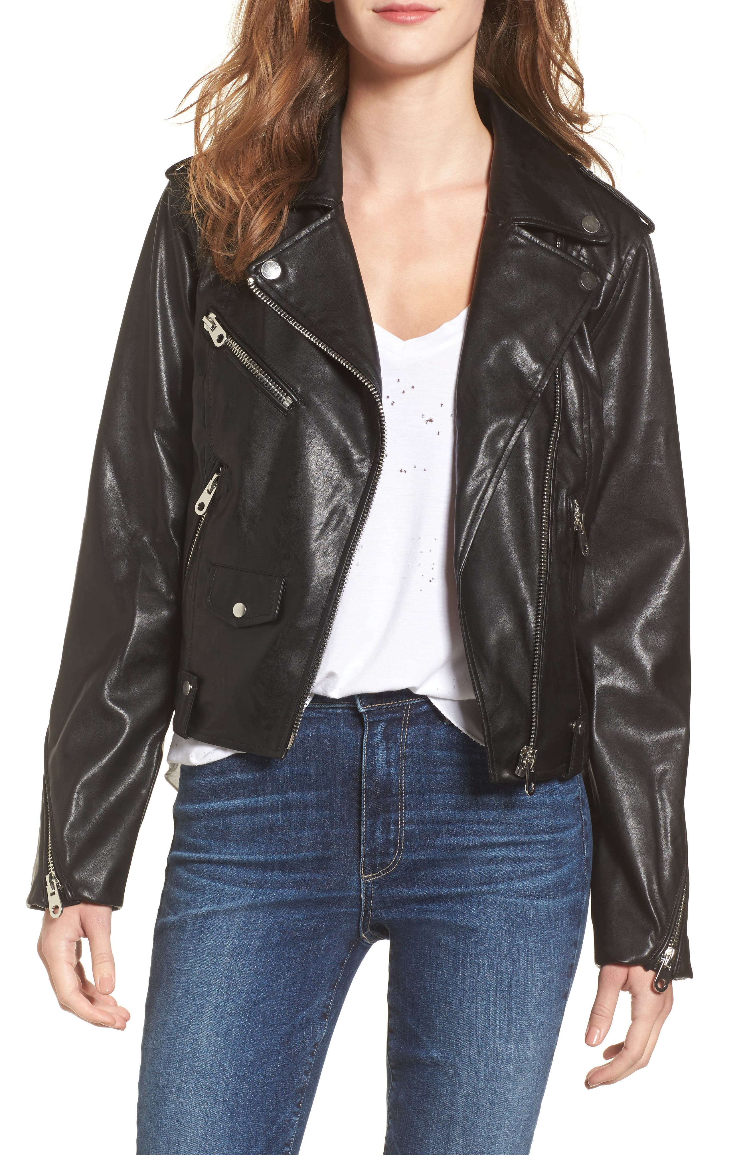 Alternate Image 1 Selected - Vigoss Faux Leather Moto Jacket