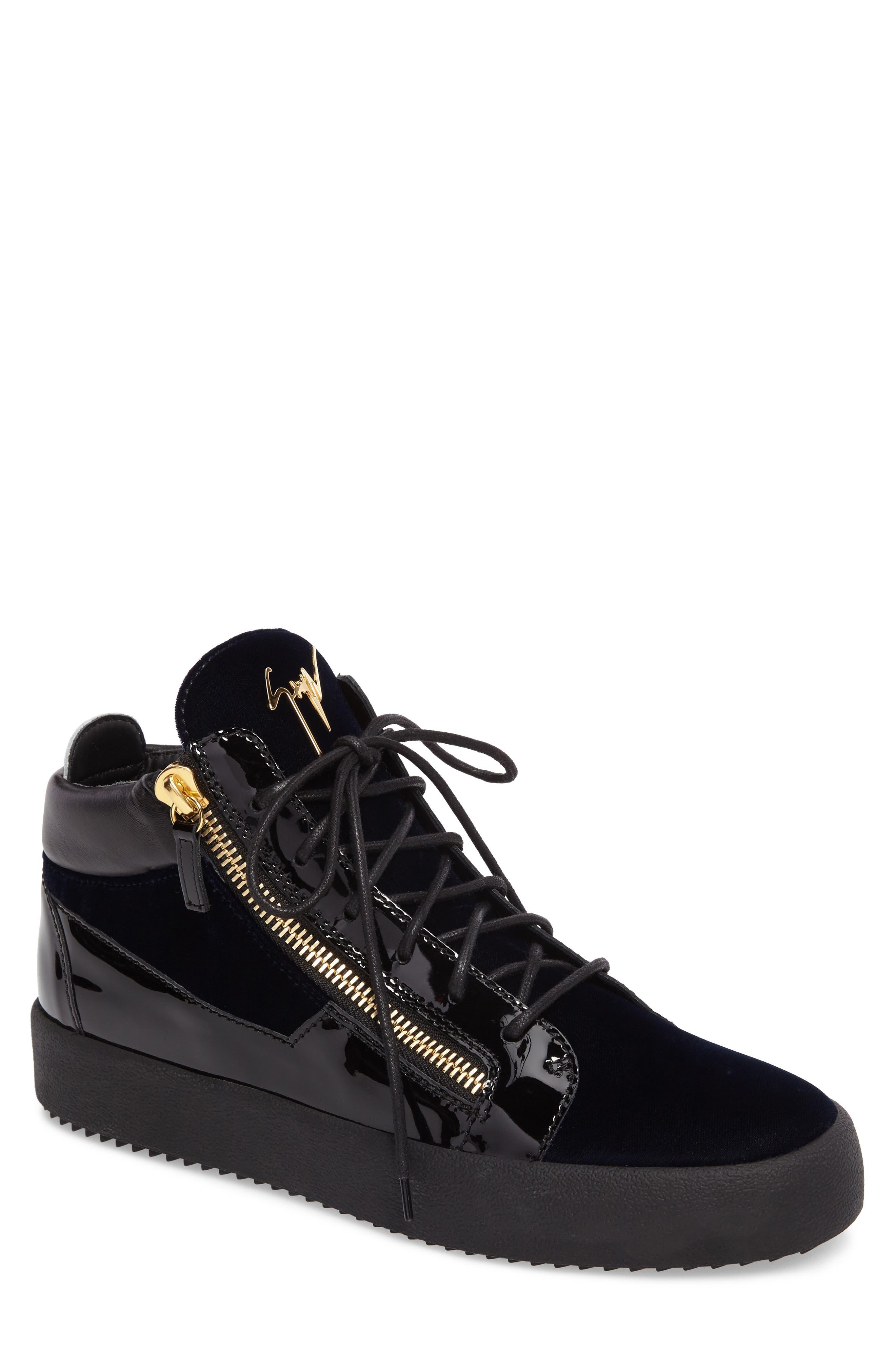 High-Top Sneaker,                             Main thumbnail 1, color,                             Navy
