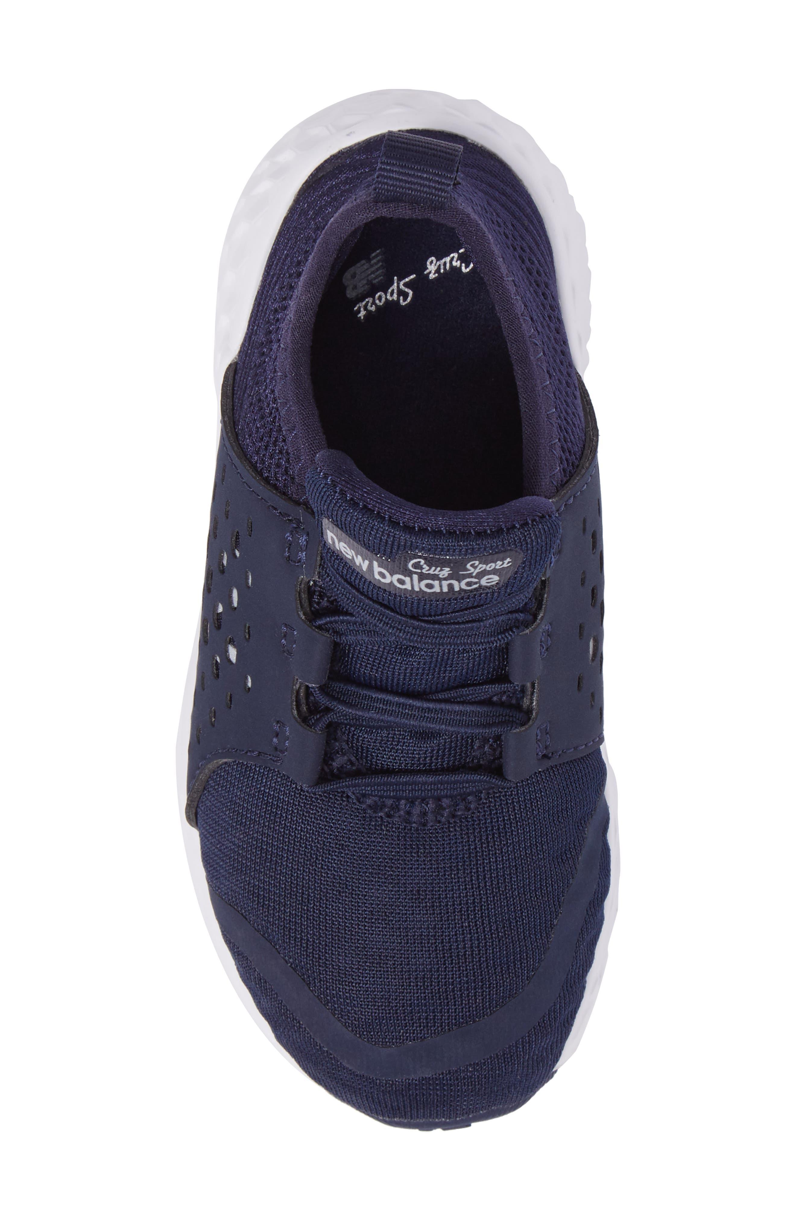Cruz Sport Sneaker,                             Alternate thumbnail 5, color,                             Navy/ White