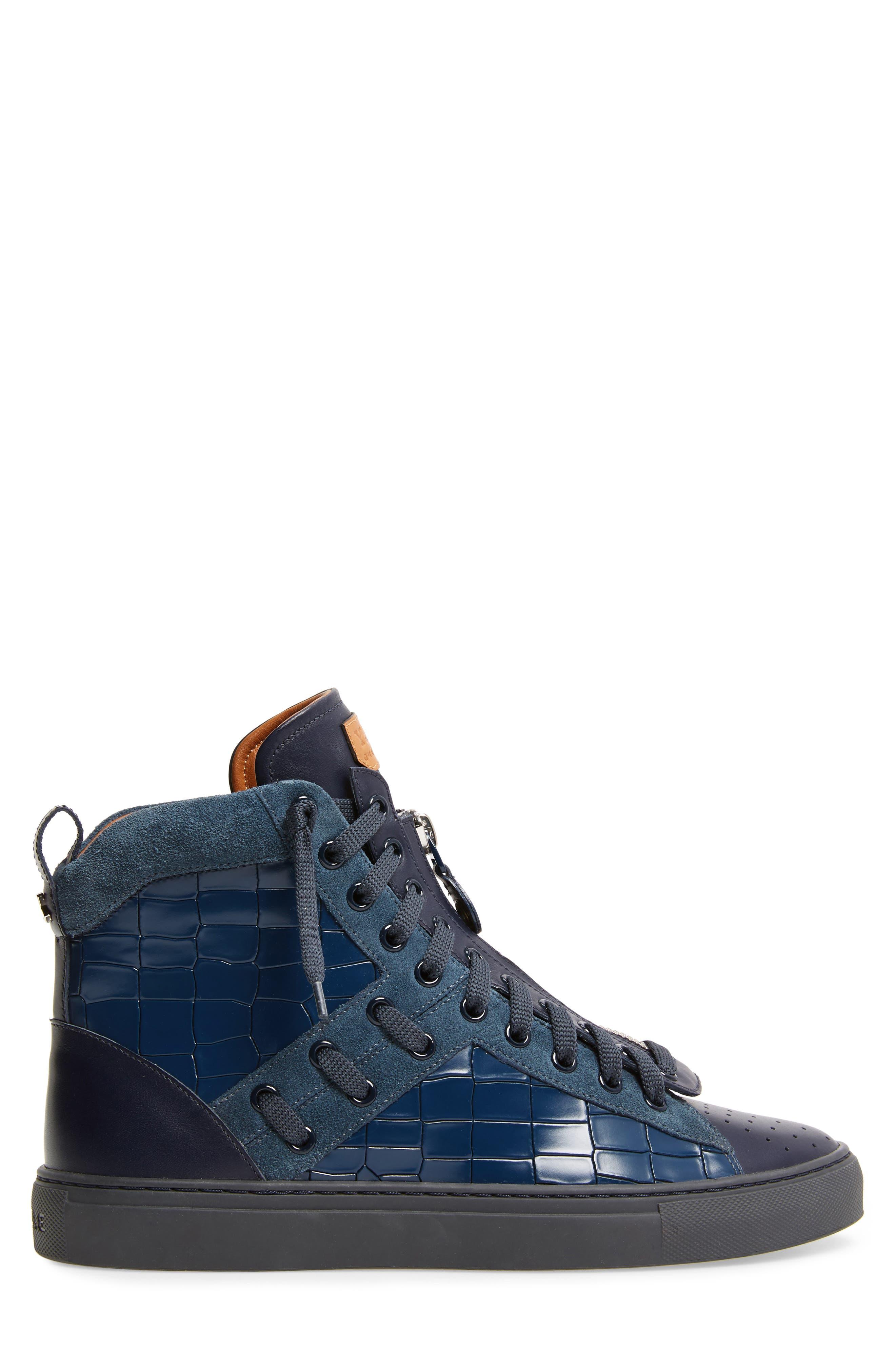 Hekem High-Top Sneaker,                             Alternate thumbnail 3, color,                             Ocean