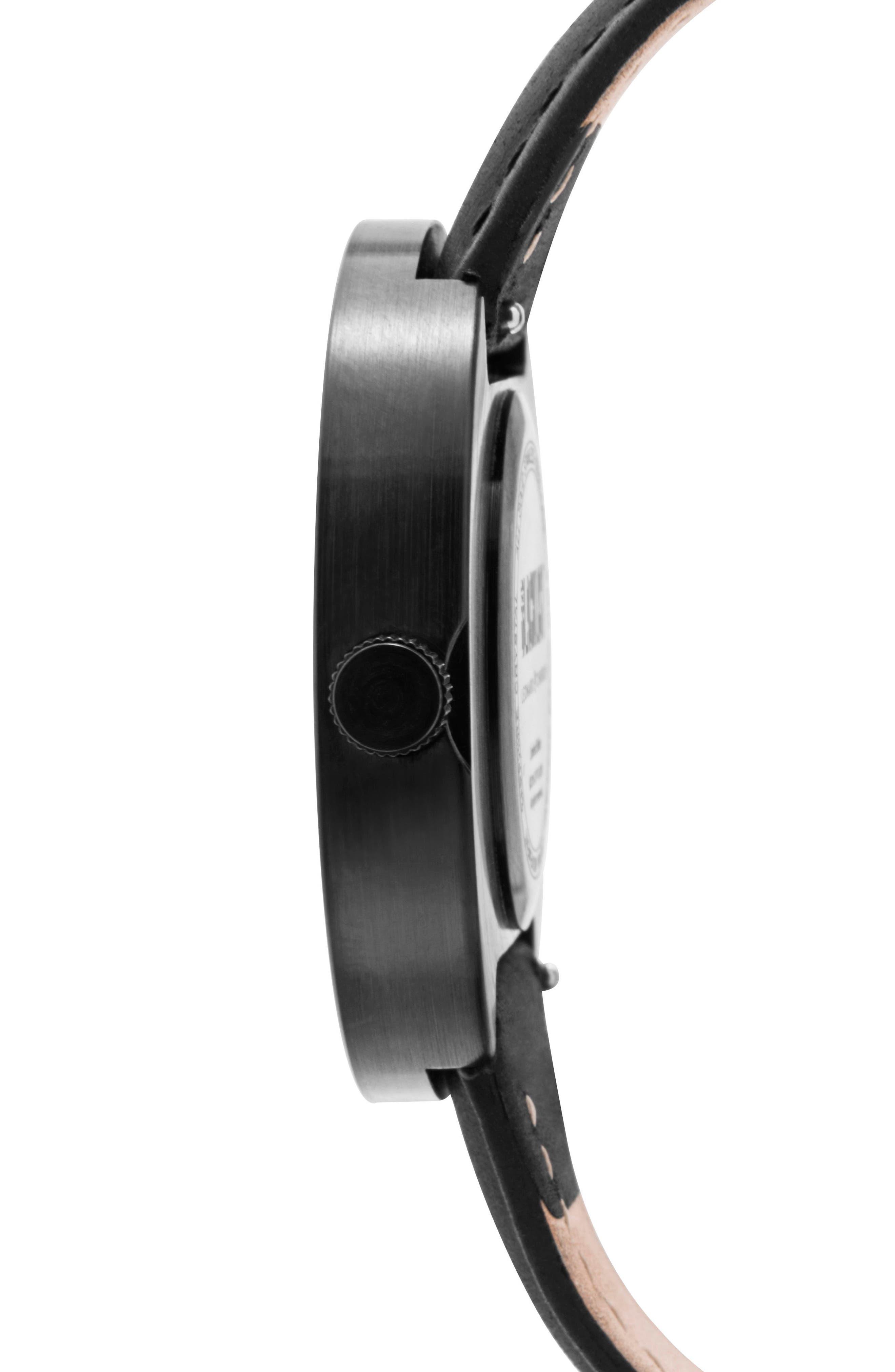 Alternate Image 2  - Leonard & Church Reddington Suede Strap Watch, 40mm