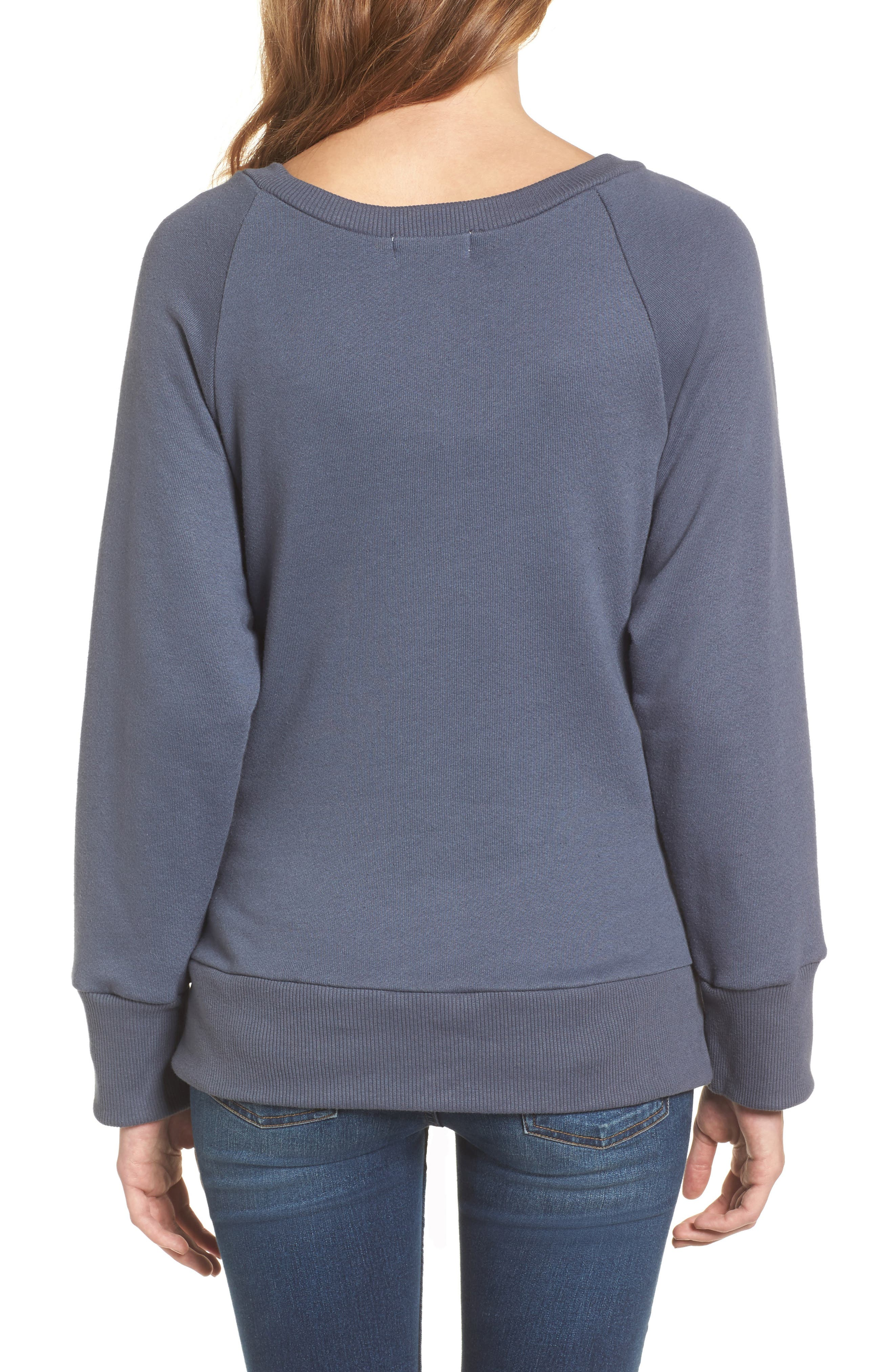 Corset Sweatshirt,                             Alternate thumbnail 2, color,                             Steel