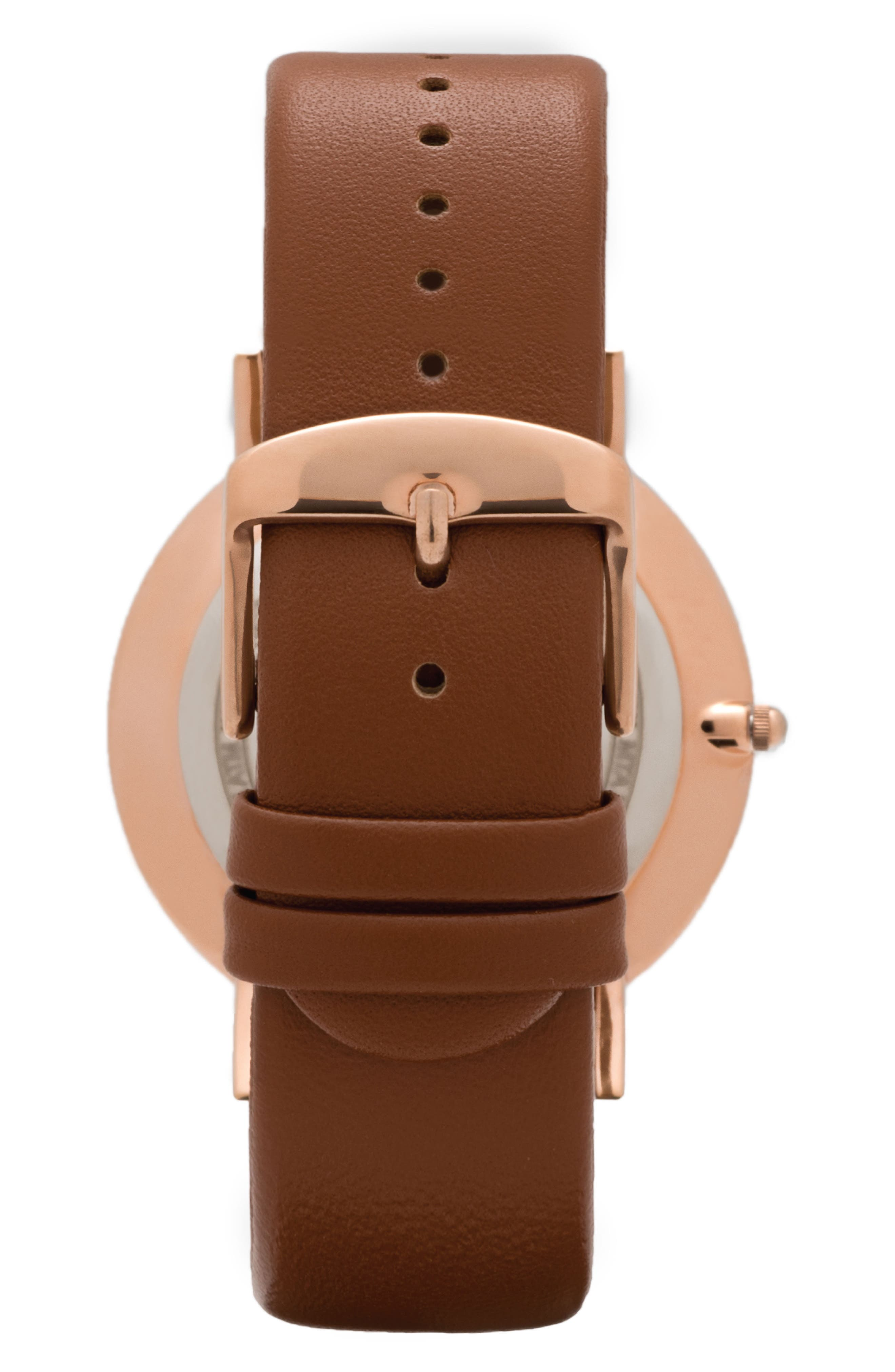 Alternate Image 3  - Leonard & Church Varick Leather Strap Watch, 40mm