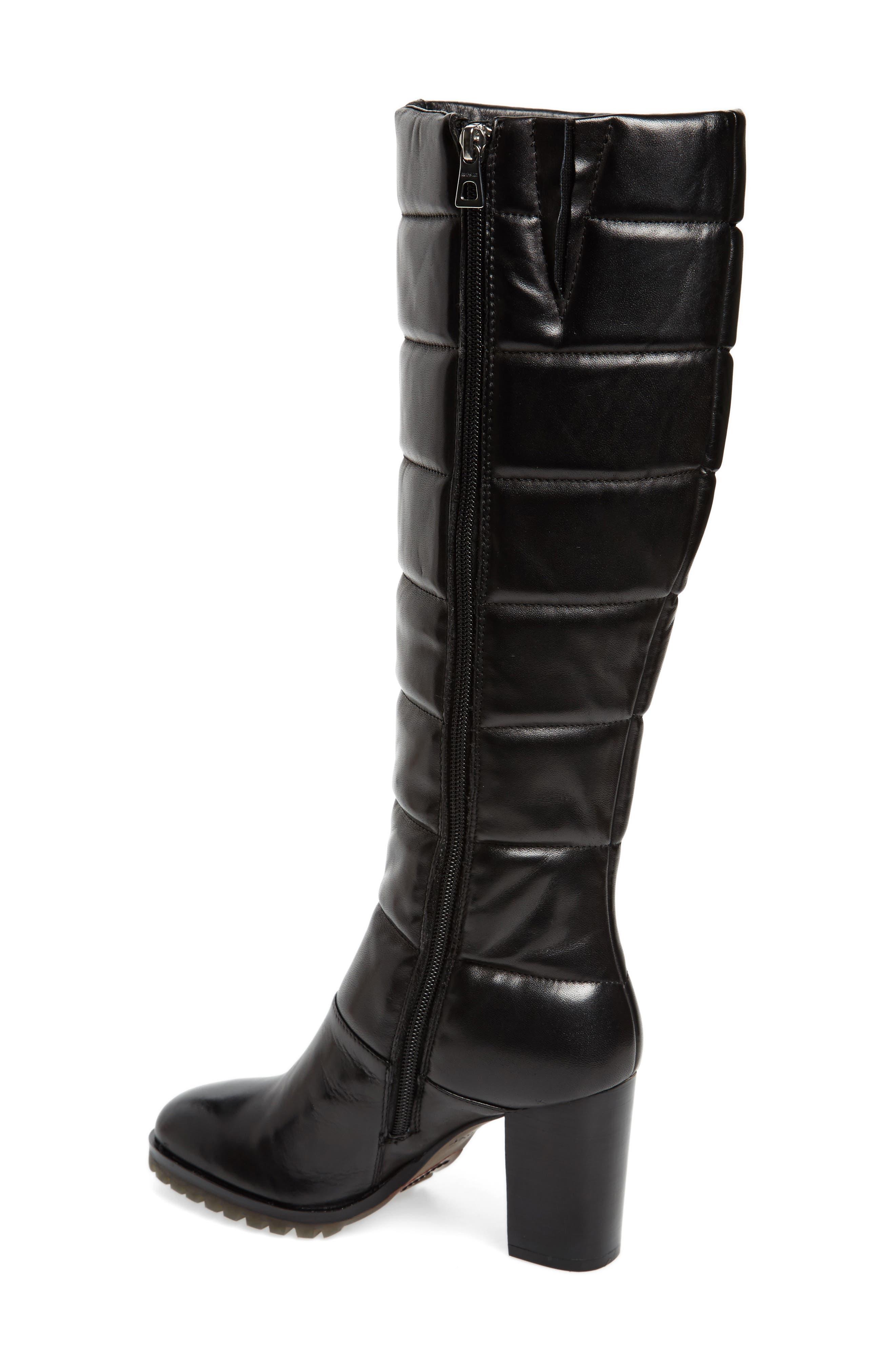 Tropia Knee High Boot,                             Alternate thumbnail 2, color,                             Black Leather