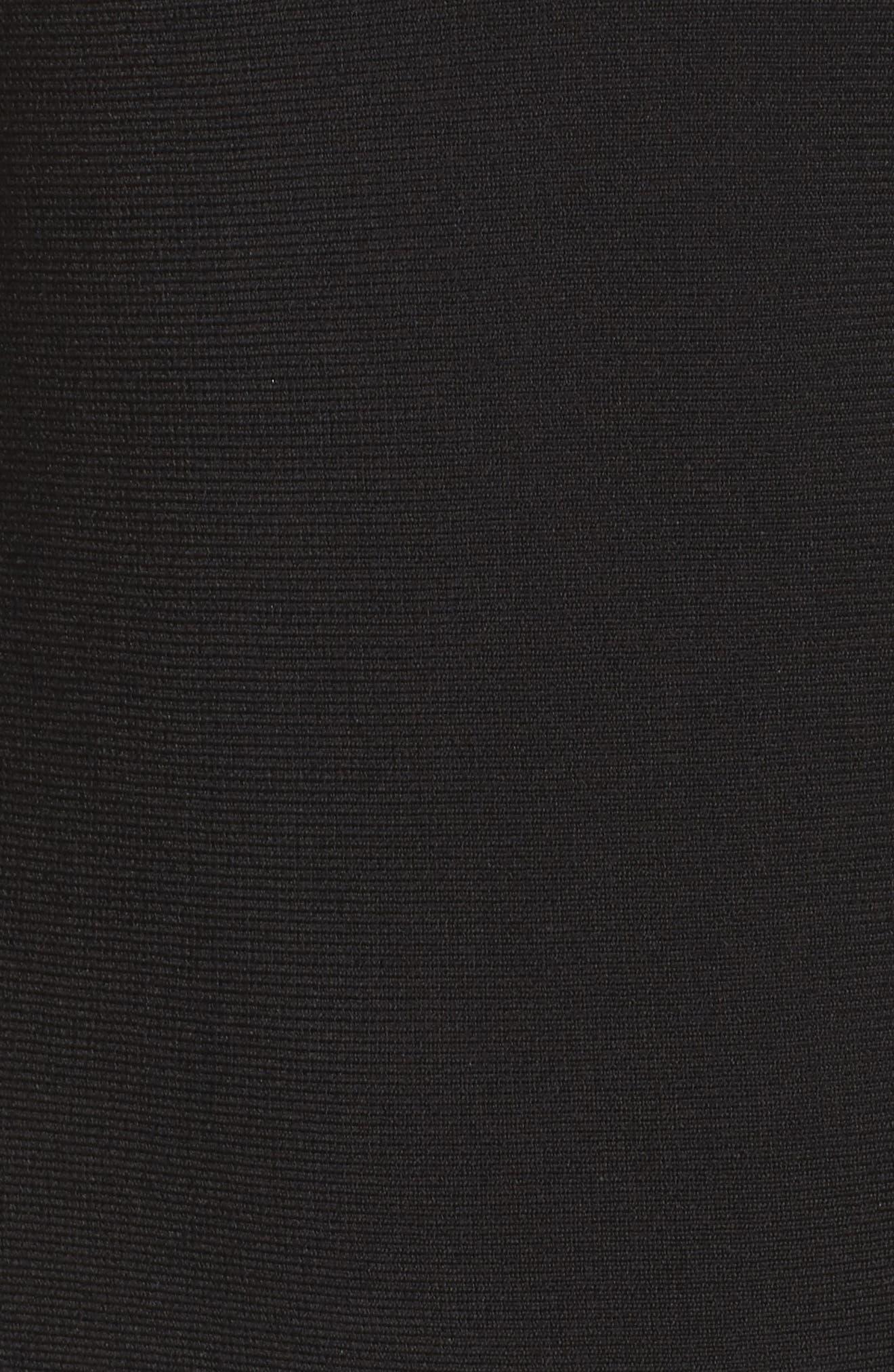 Sequin Midi Dress,                             Alternate thumbnail 5, color,                             Black Onyx