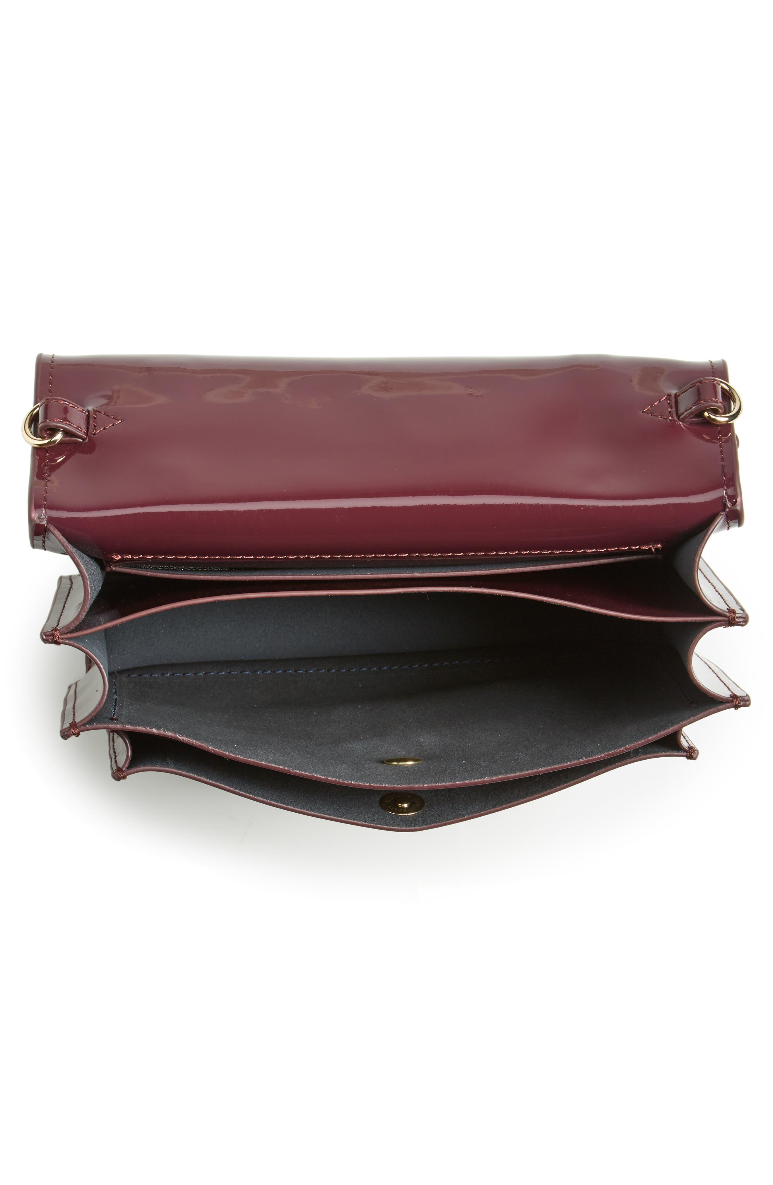 Alternate Image 3  - ZAC Zac Posen Earthette Patent Leather Accordion Bag
