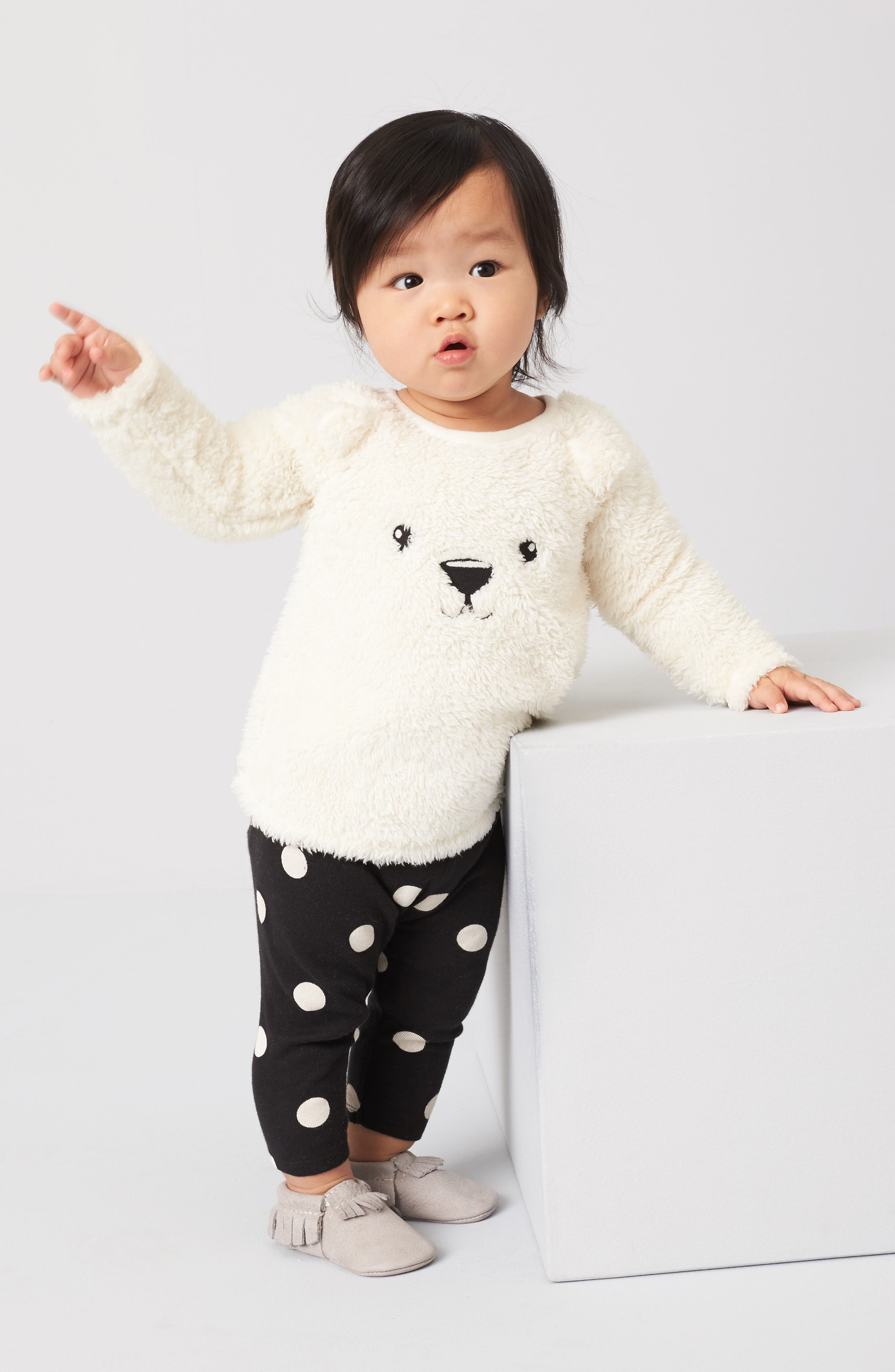 Alternate Image 2  - Nordstrom Baby Animal Tunic & Leggings Set (Baby Girls)