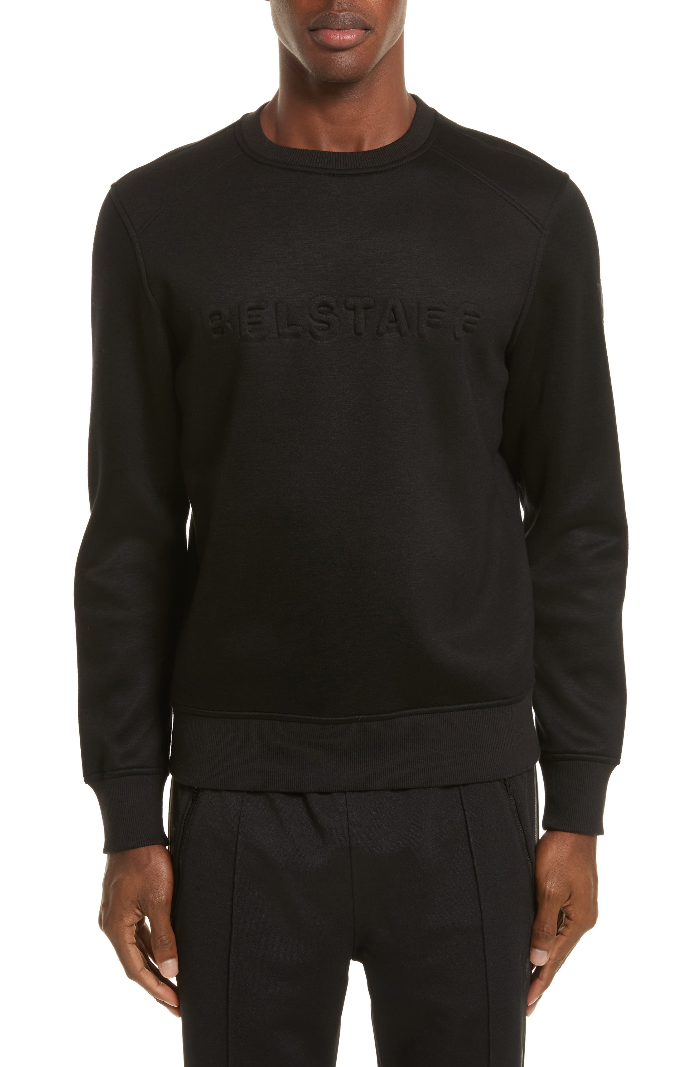 Belsford Crewneck Sweatshirt,                             Main thumbnail 1, color,                             Black