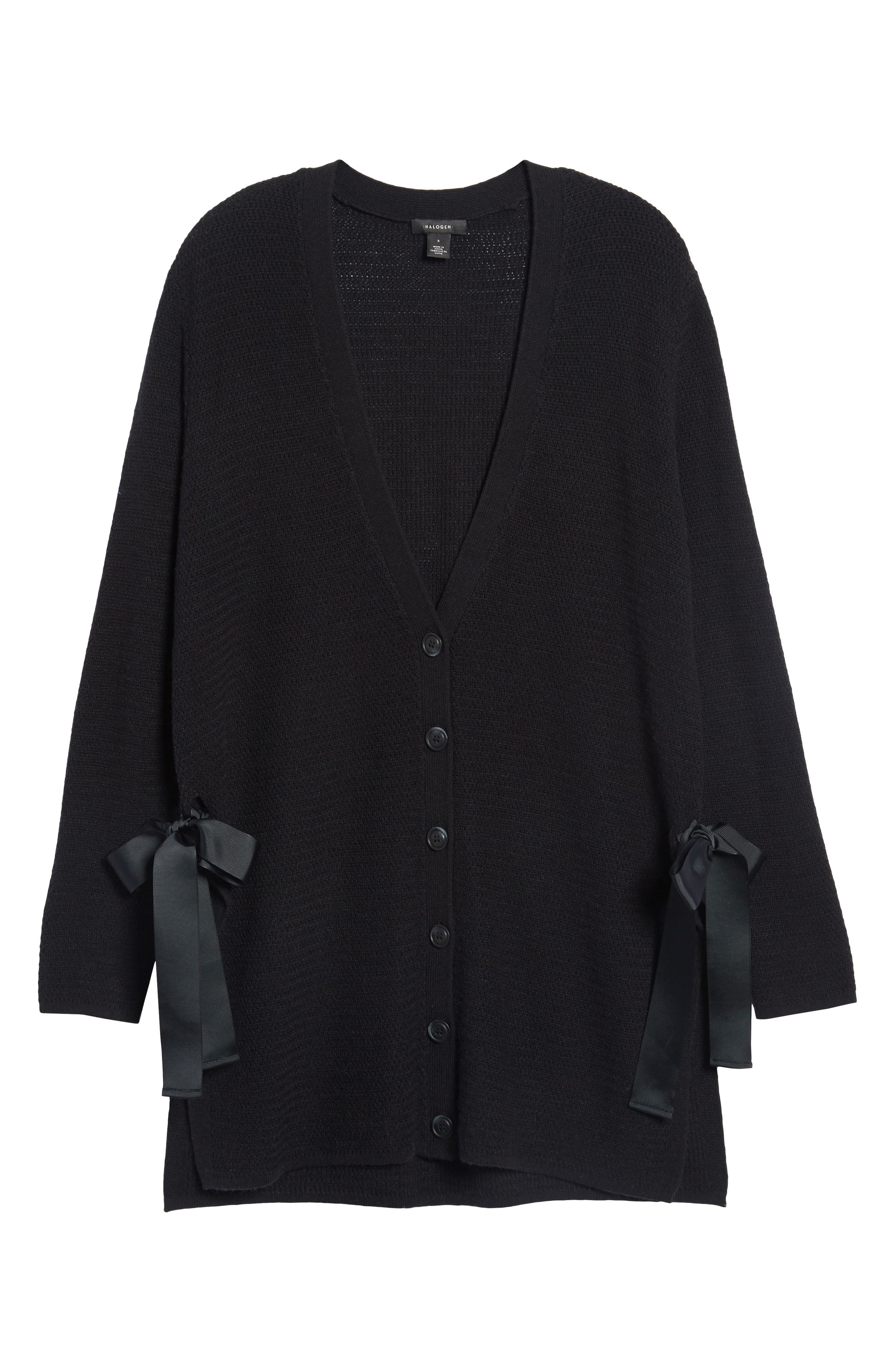 Alternate Image 6  - Halogen® Side Tie Cardigan (Regular & Petite)