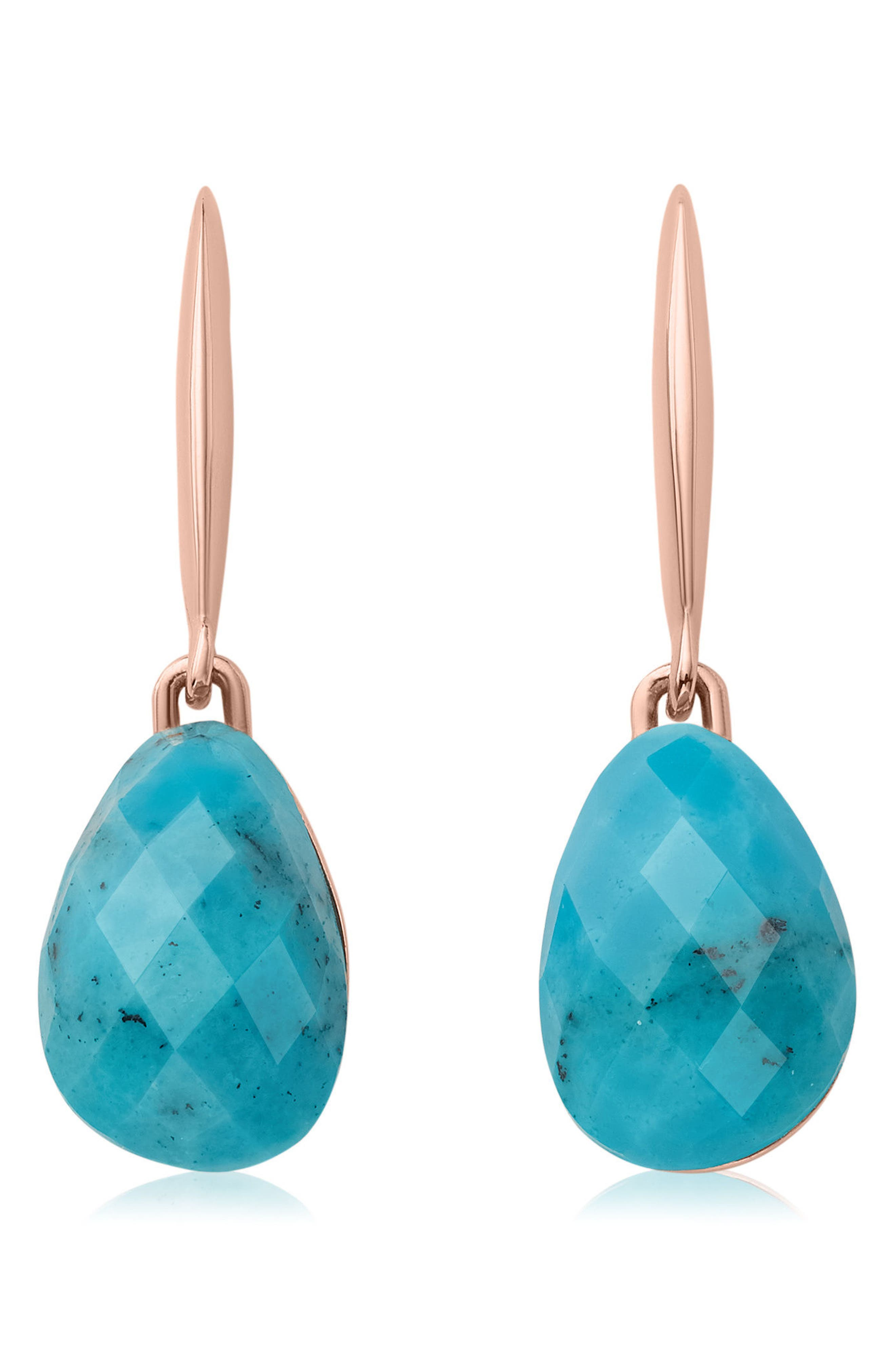 Nura Small Teardrop Earrings,                         Main,                         color, Turquoise