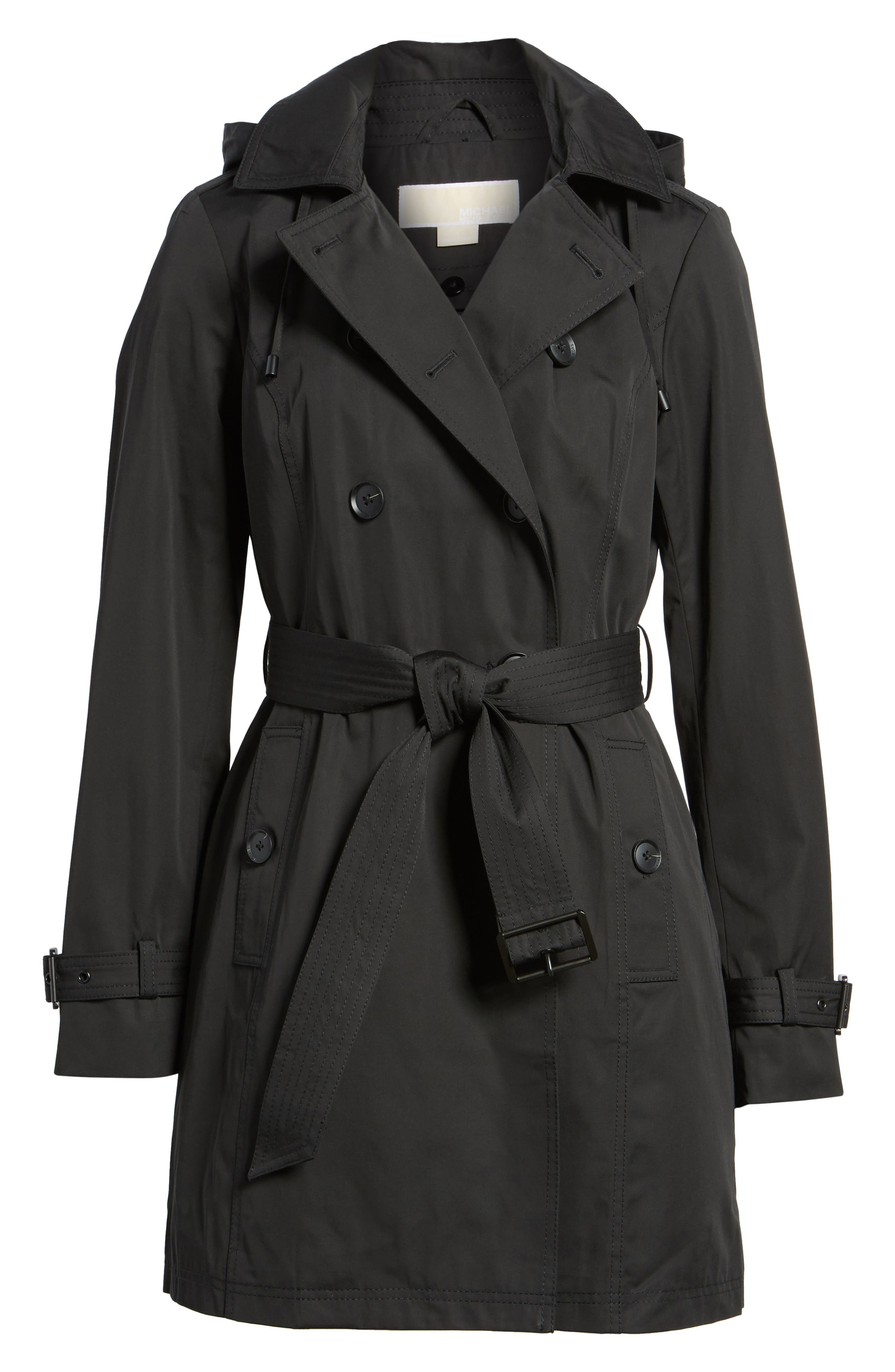 Belted Parka Jacket,                             Main thumbnail 1, color,                             Black