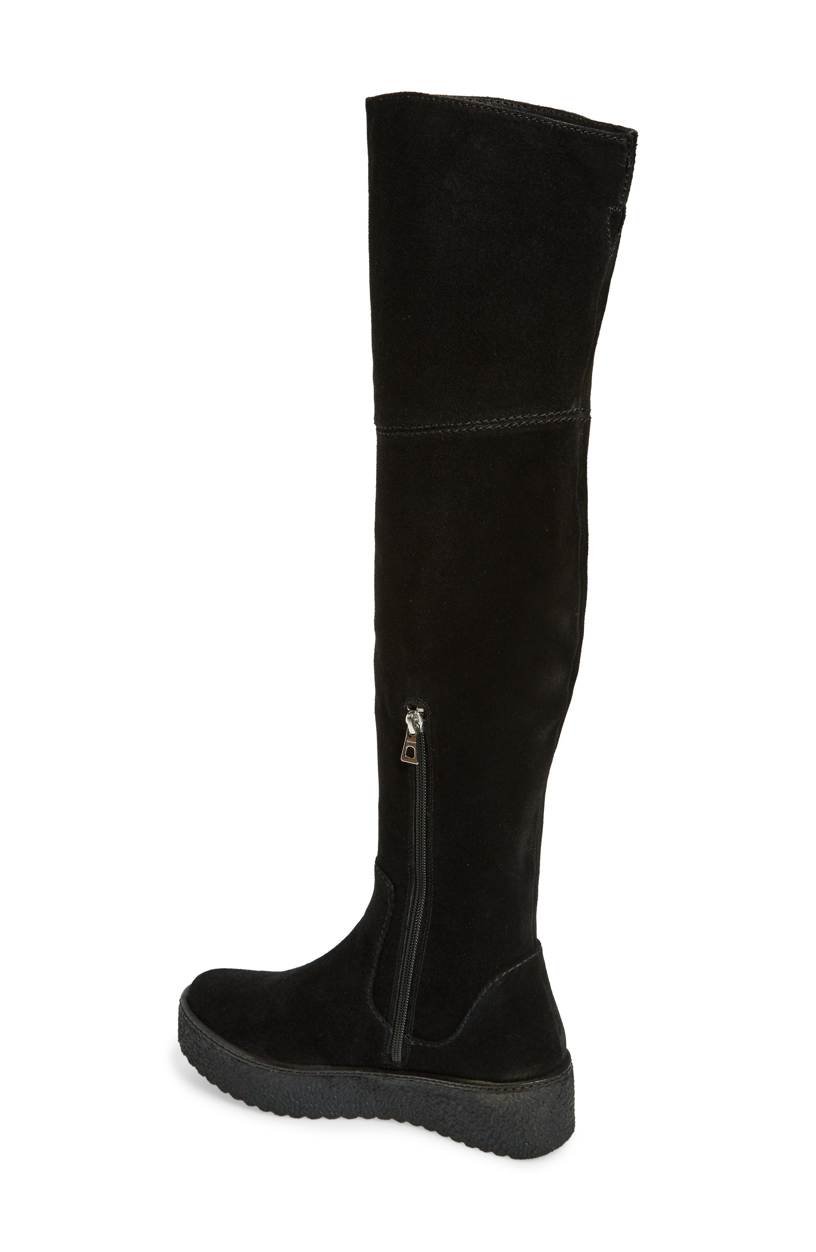 Tazza Over the Knee Boot,                             Alternate thumbnail 2, color,                             Black Suede