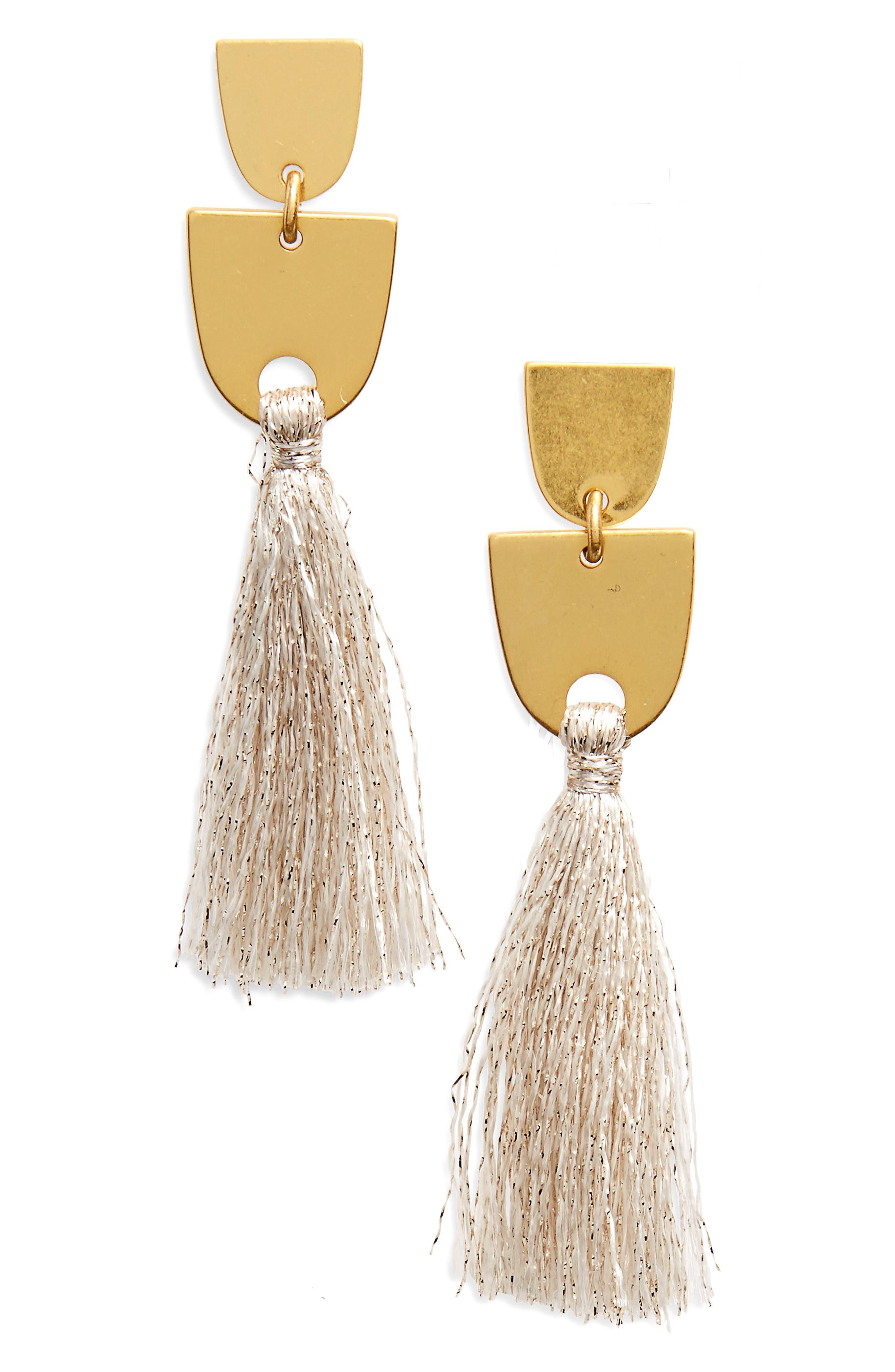 Madewell Tassel Drop Earrings