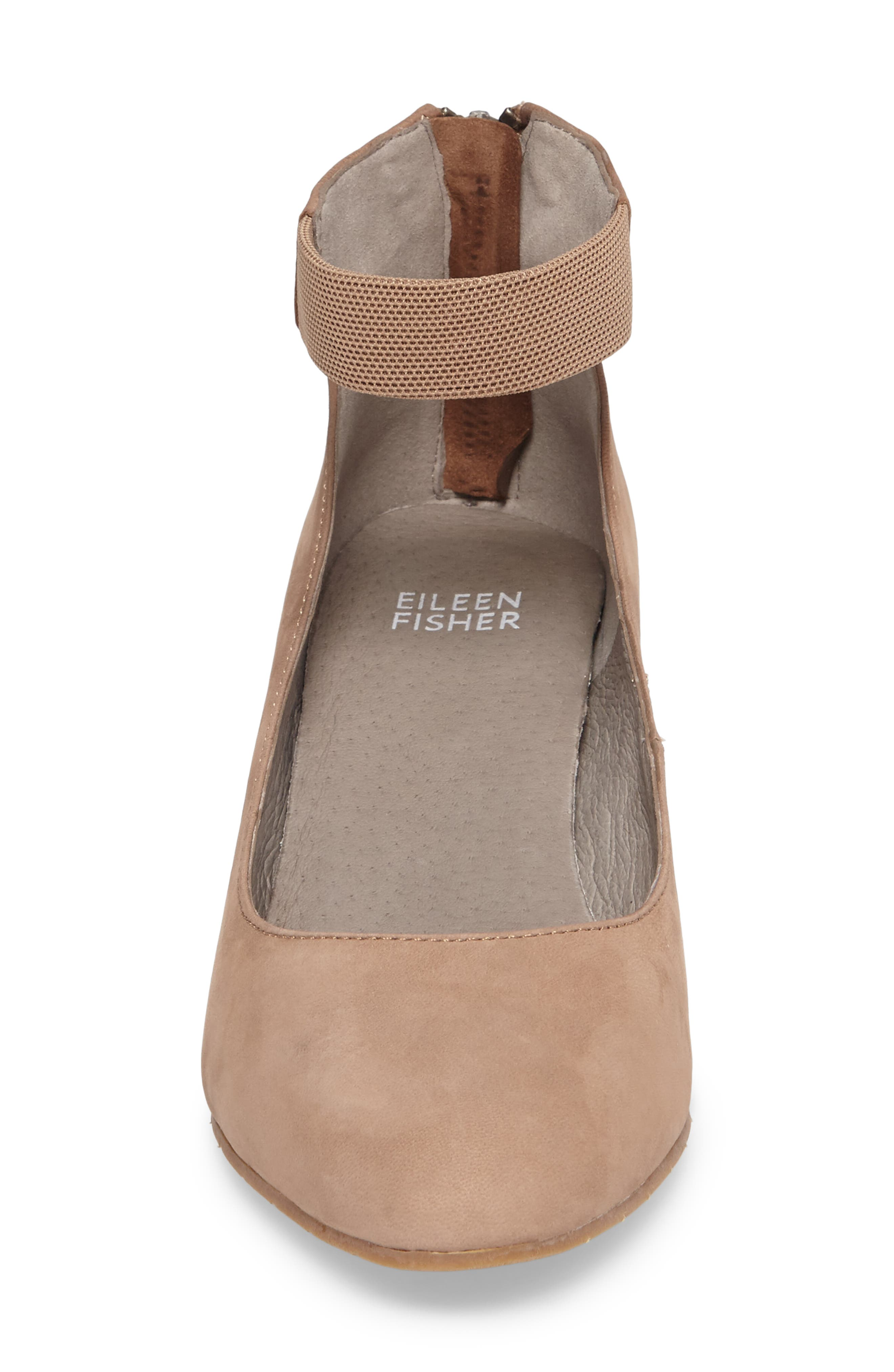 'Liz' Ankle Strap Pump,                             Alternate thumbnail 4, color,                             Earth Nubuck