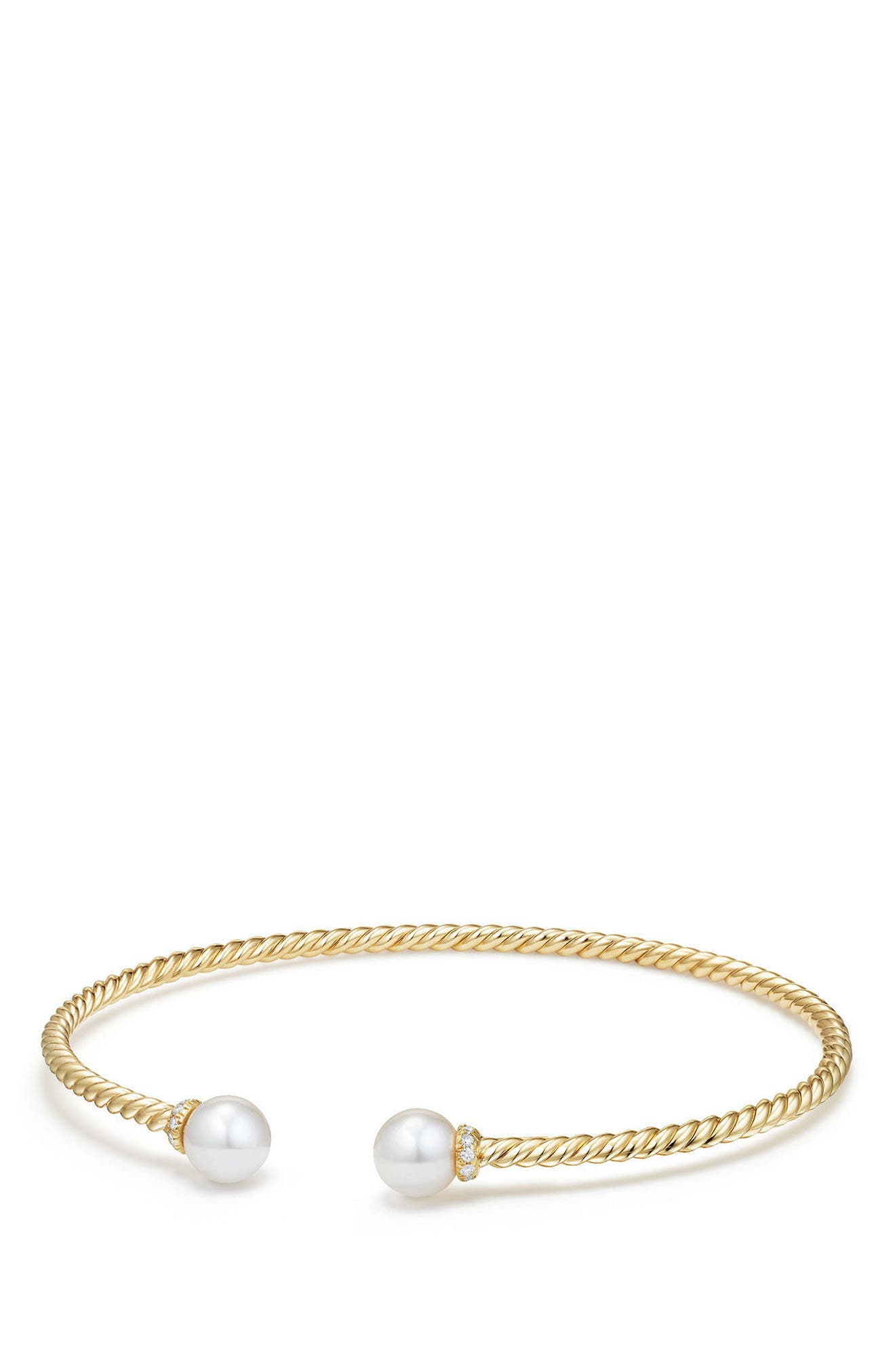 Solari Pearl Bracelet with Diamonds in 18K Gold,                         Main,                         color, Yellow Gold/ Diamond
