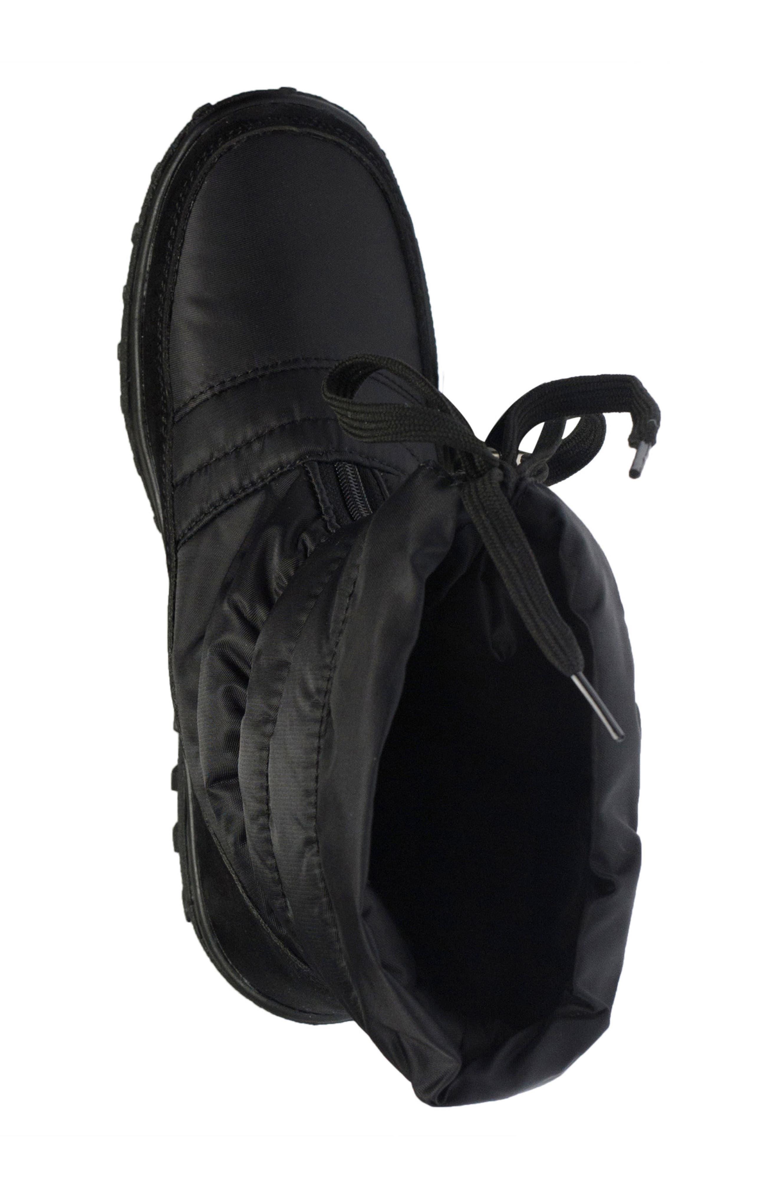 Lucerne Waterproof Drawstring Boot,                             Alternate thumbnail 4, color,                             Black