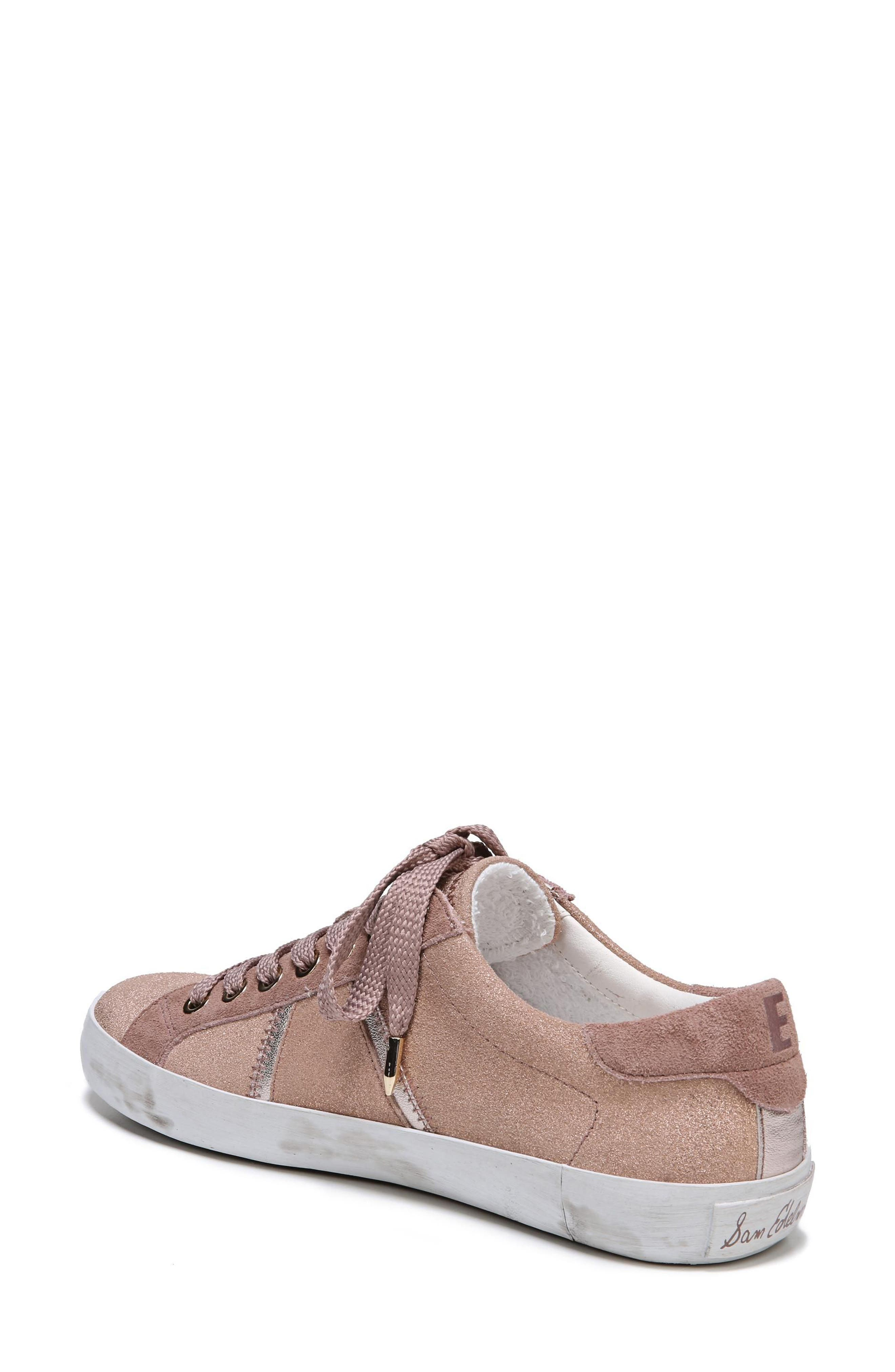 Baylee Sneaker,                             Alternate thumbnail 2, color,                             Blush Suede