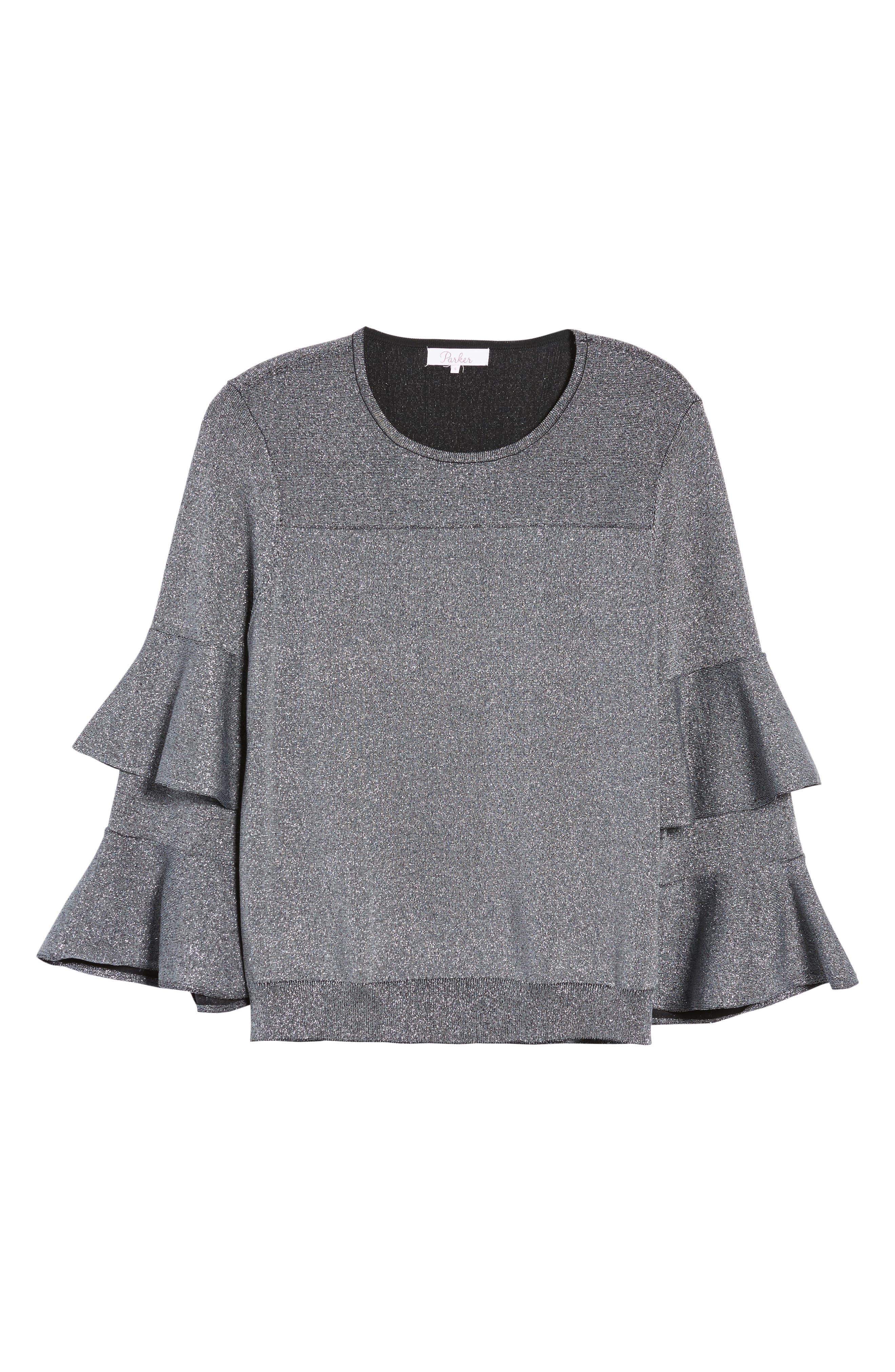 Alternate Image 6  - Parker Jayla Ruffle Sleeve Sweater