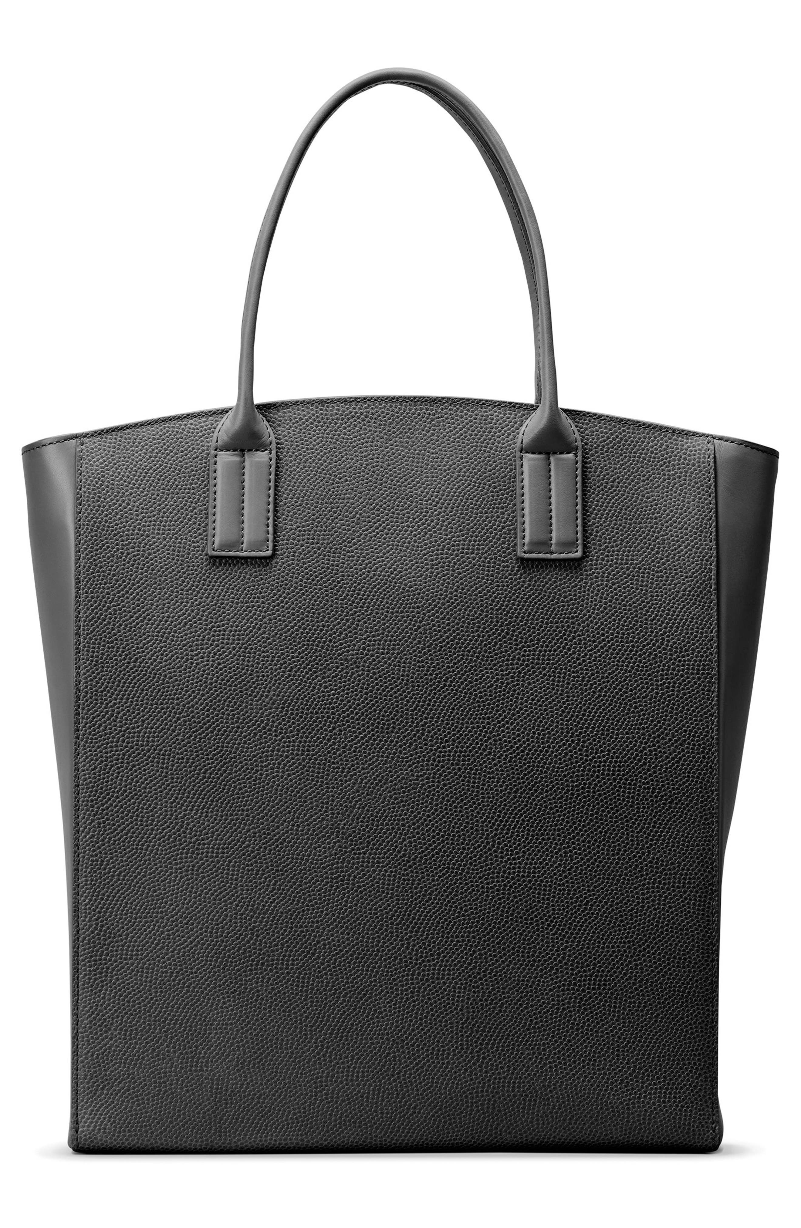 Latigo Leather Tote,                             Alternate thumbnail 2, color,                             Black