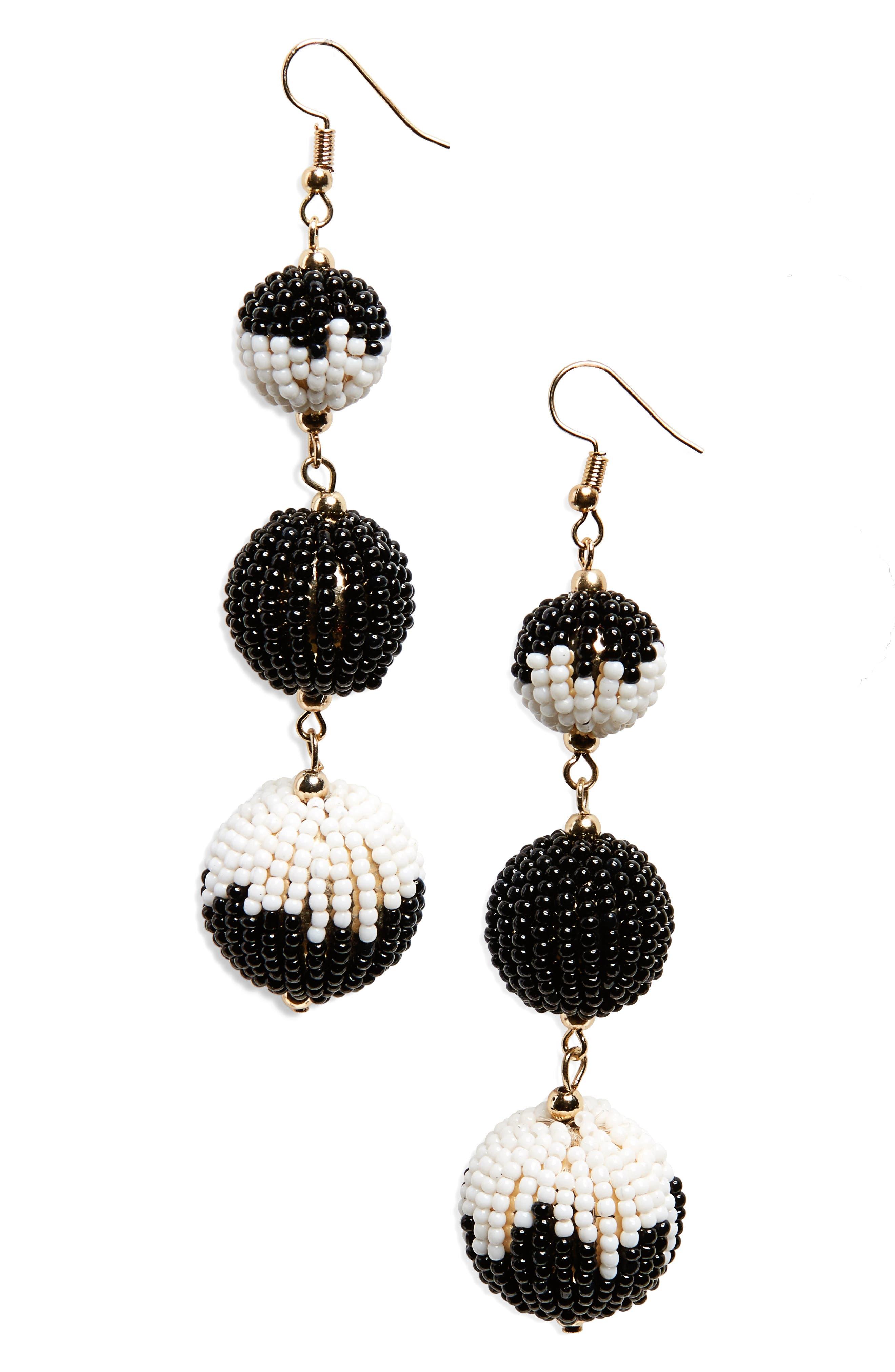 BP. Beaded Ball Drop Earrings