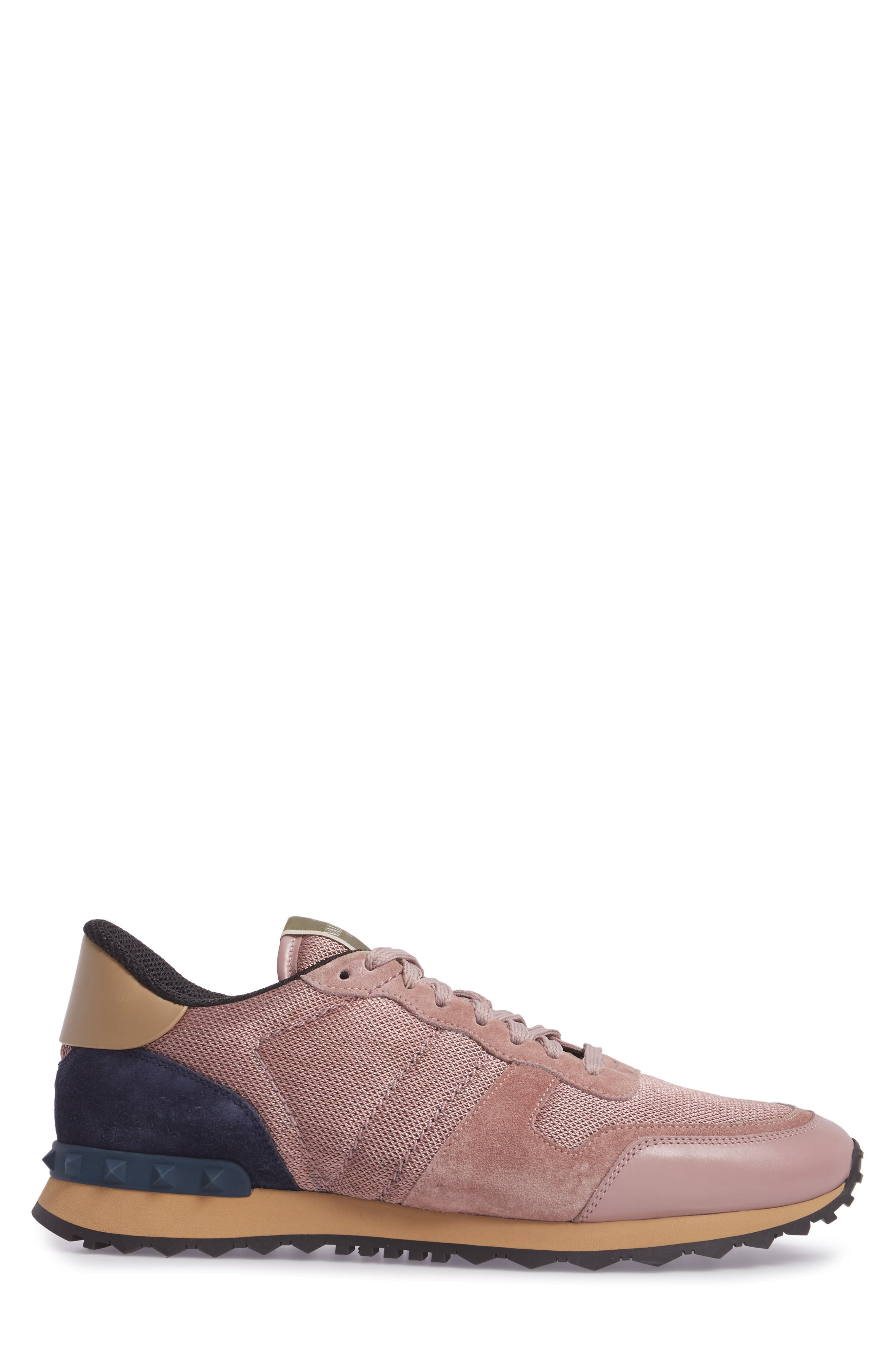 Nylon Rockrunner Sneaker,                             Alternate thumbnail 3, color,                             Lipstick