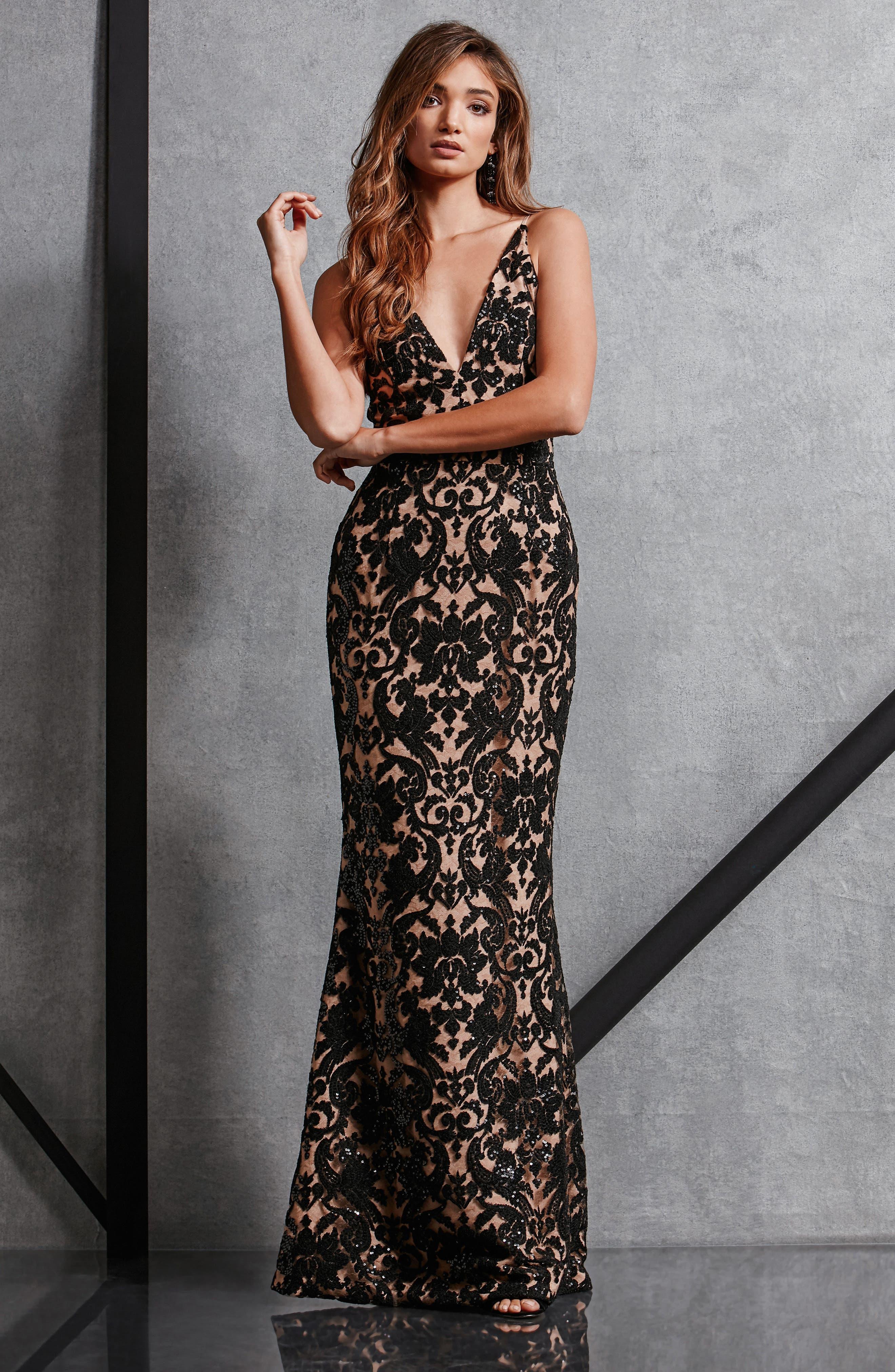 Alternate Image 2  - Dress the Population Karen Mermaid Gown