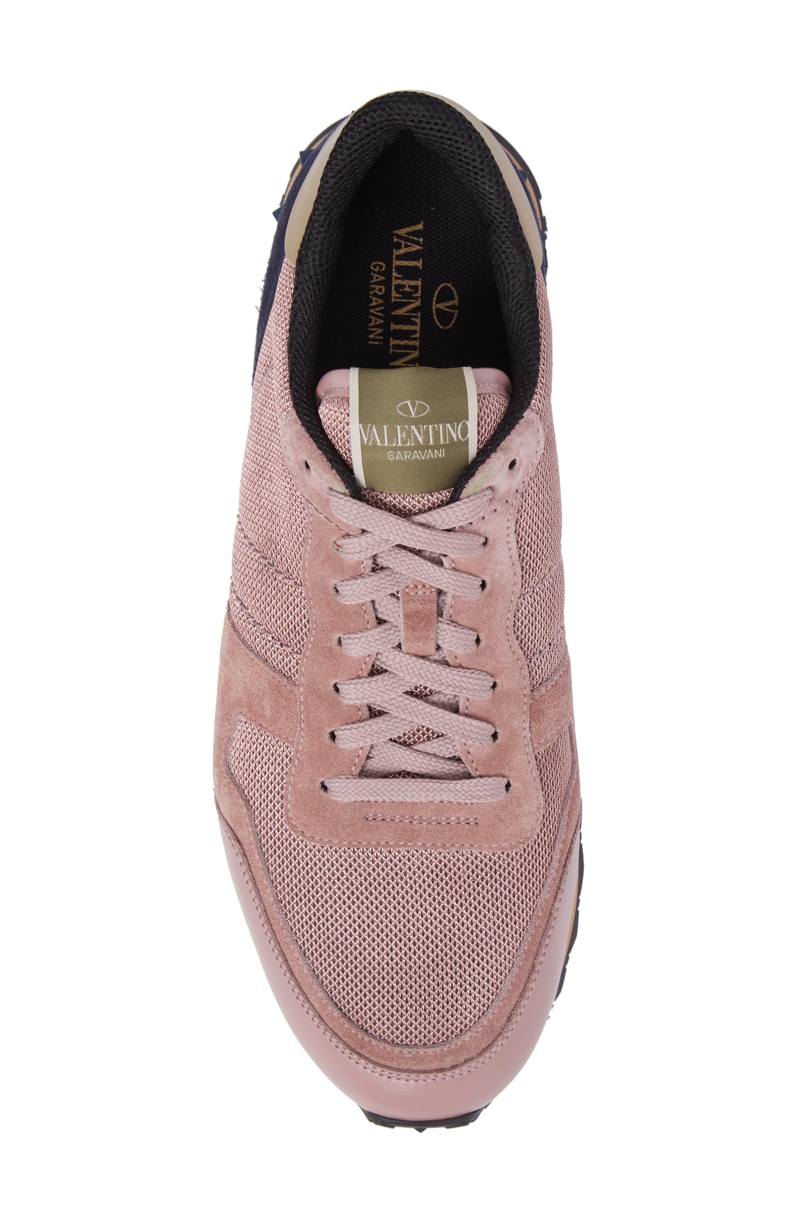 Nylon Rockrunner Sneaker,                             Alternate thumbnail 5, color,                             Lipstick