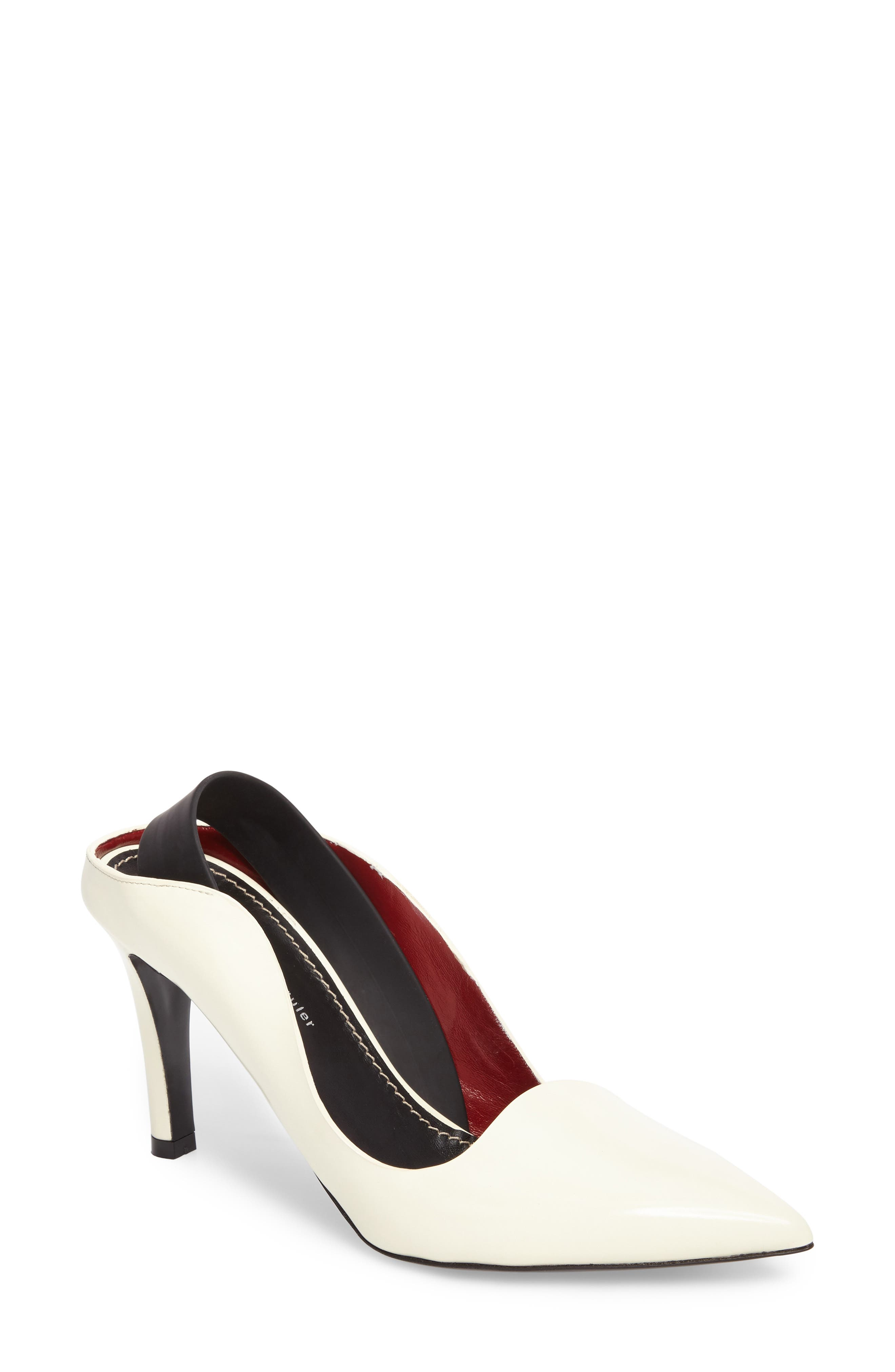 Wave Backless Pump,                         Main,                         color, White