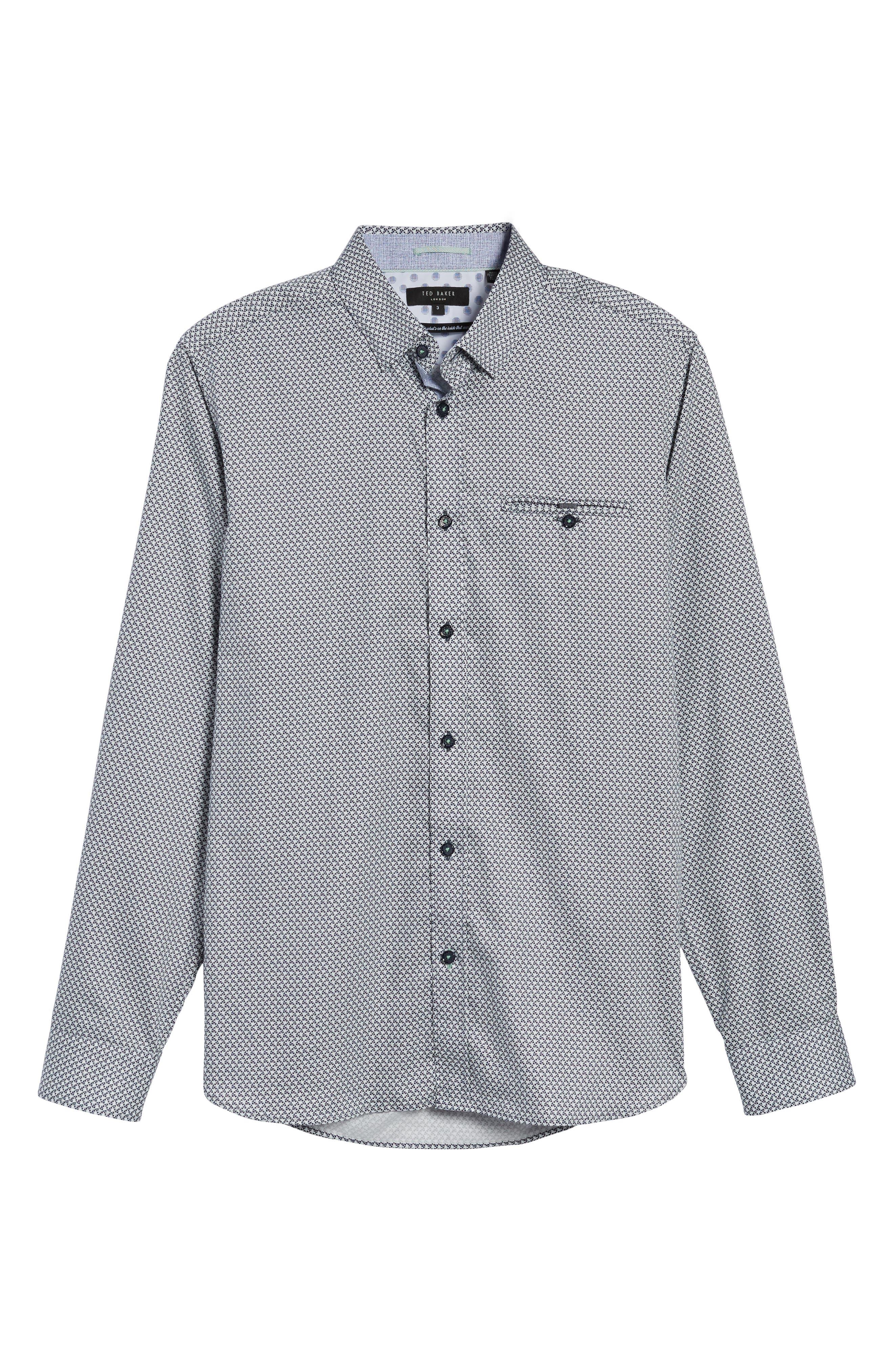 Alternate Image 6  - Ted Baker London Vilamor Extra Slim Fit Print Sport Shirt