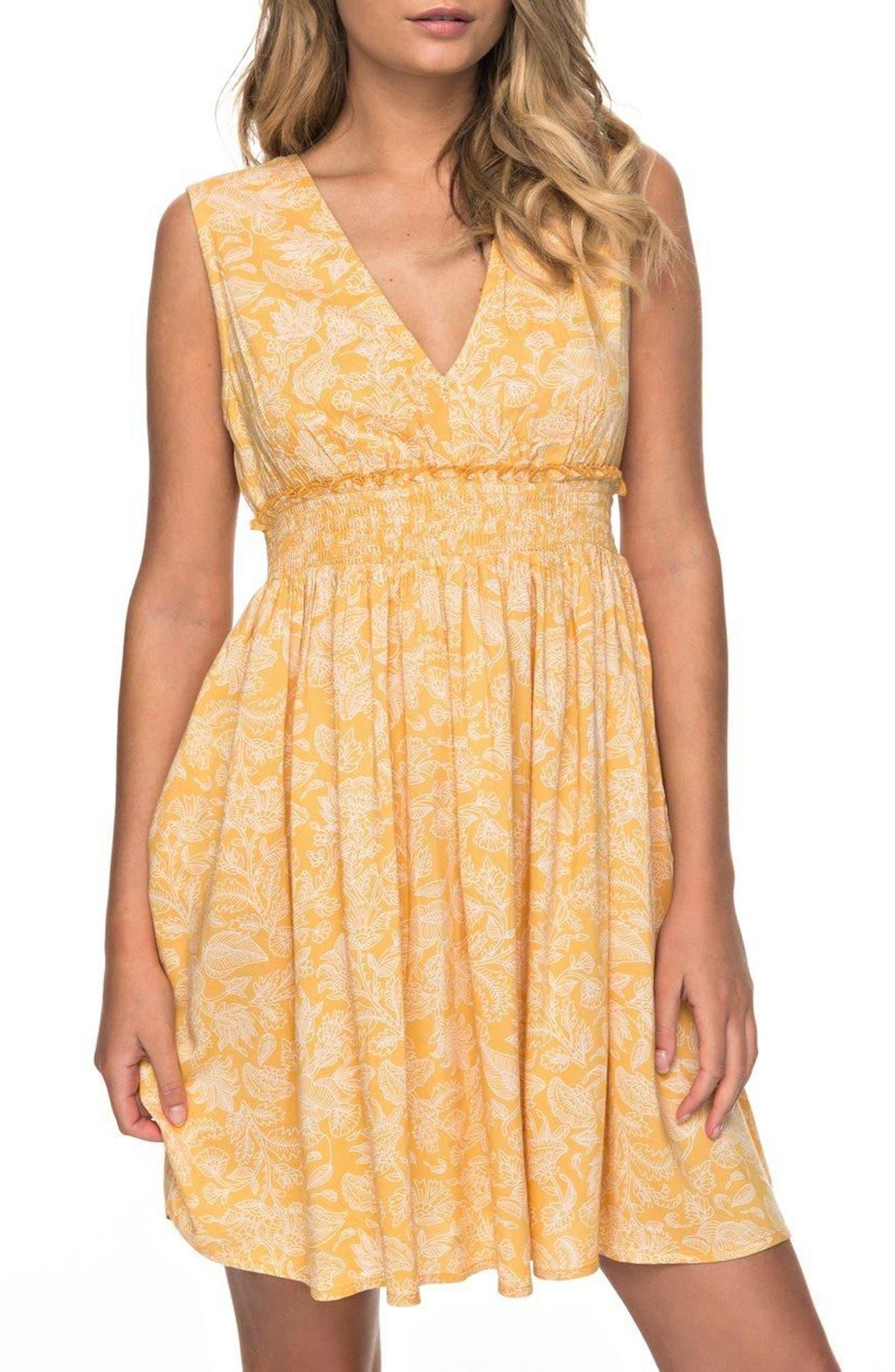 Angelic Grace Print Dress,                         Main,                         color, Amber Dear Frida