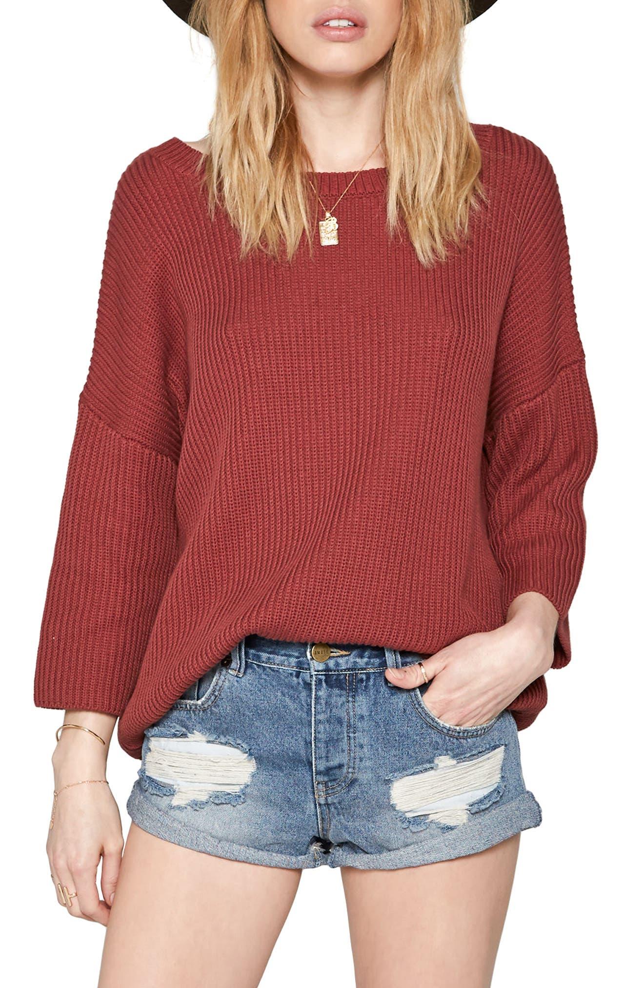 Camp Fire Sweater,                         Main,                         color, Mauve