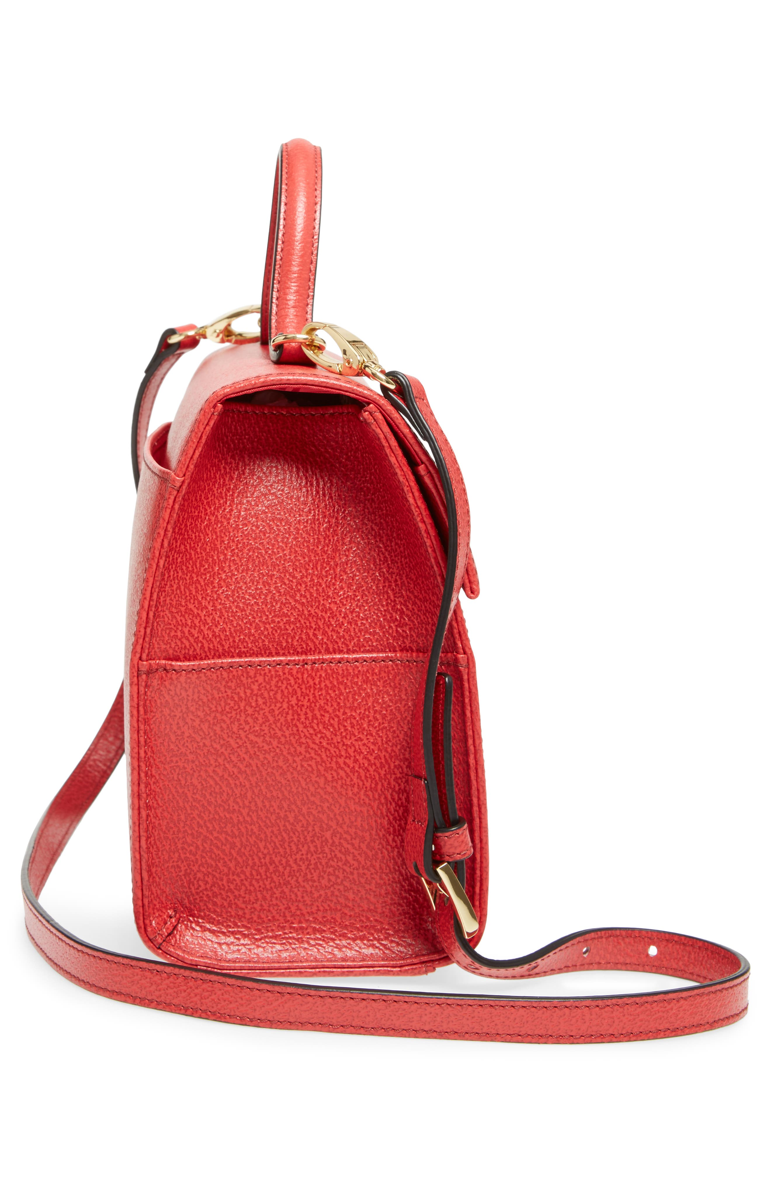 LODIS Stephanie Under Lock & Key - Medium Bree Leather Crossbody Bag,                             Alternate thumbnail 4, color,                             Red
