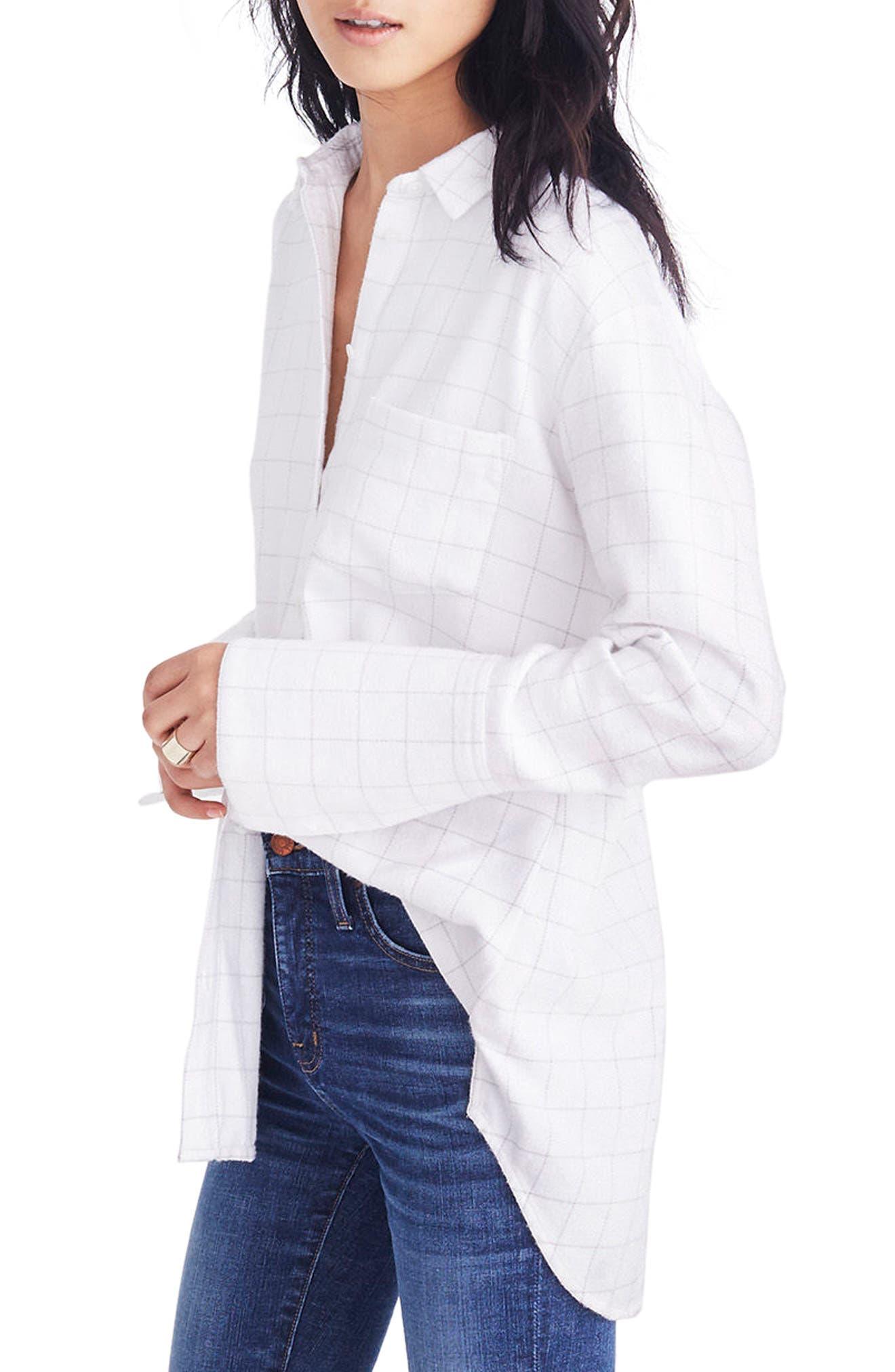 Oversize Ex-Boyfriend Shirt,                             Alternate thumbnail 2, color,                             Thin Bright White