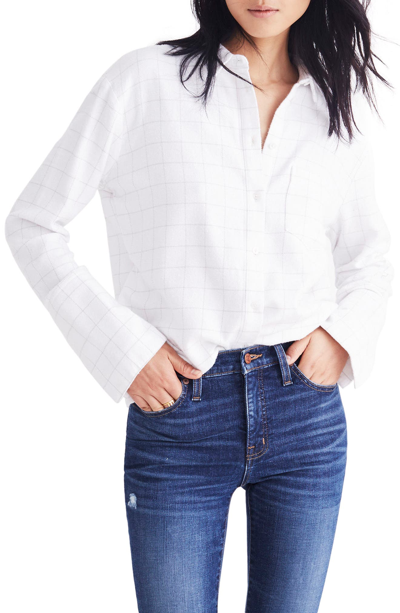 Oversize Ex-Boyfriend Shirt,                             Main thumbnail 1, color,                             Thin Bright White