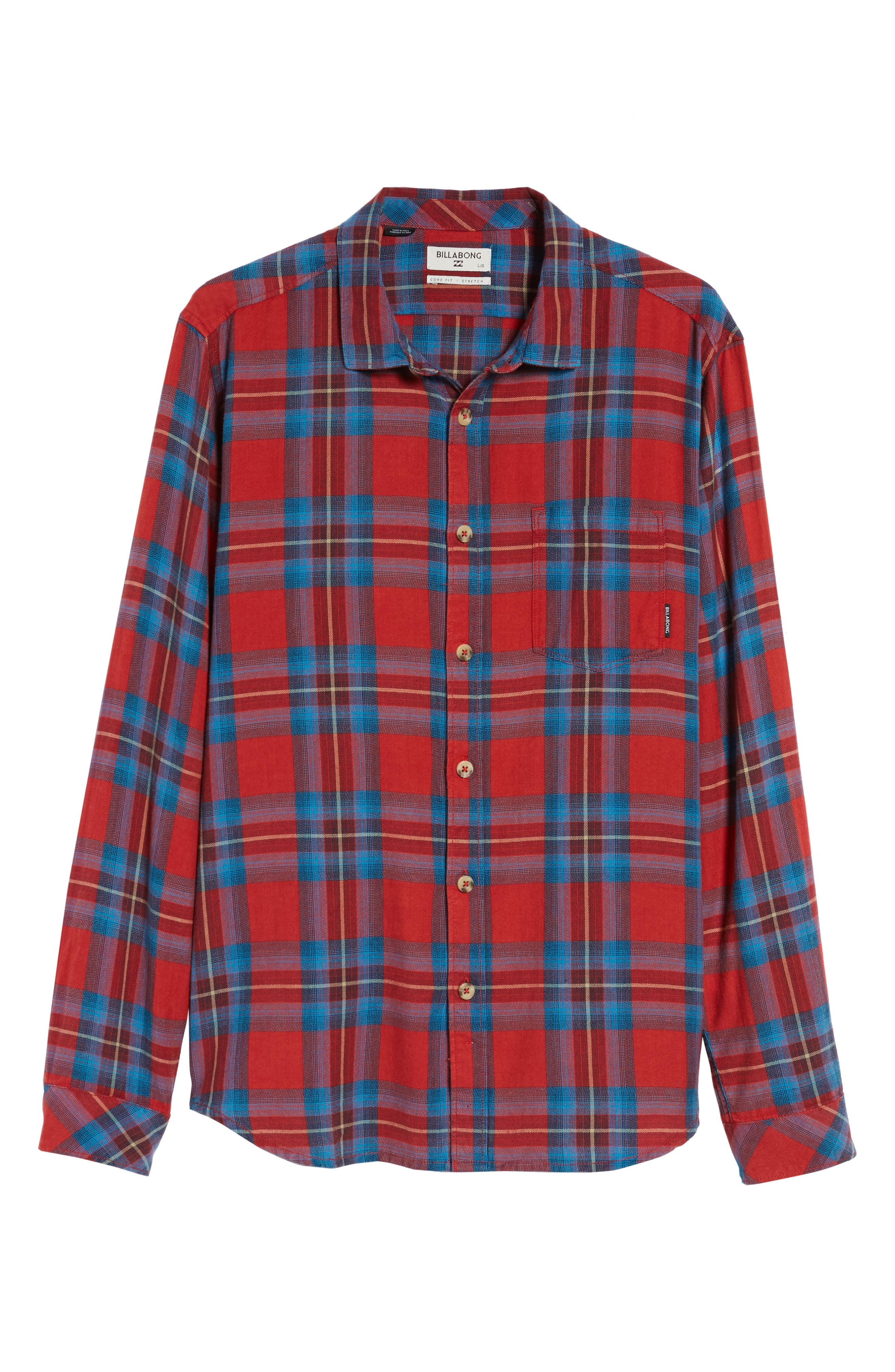 Freemont Flannel Shirt,                             Alternate thumbnail 6, color,                             Red
