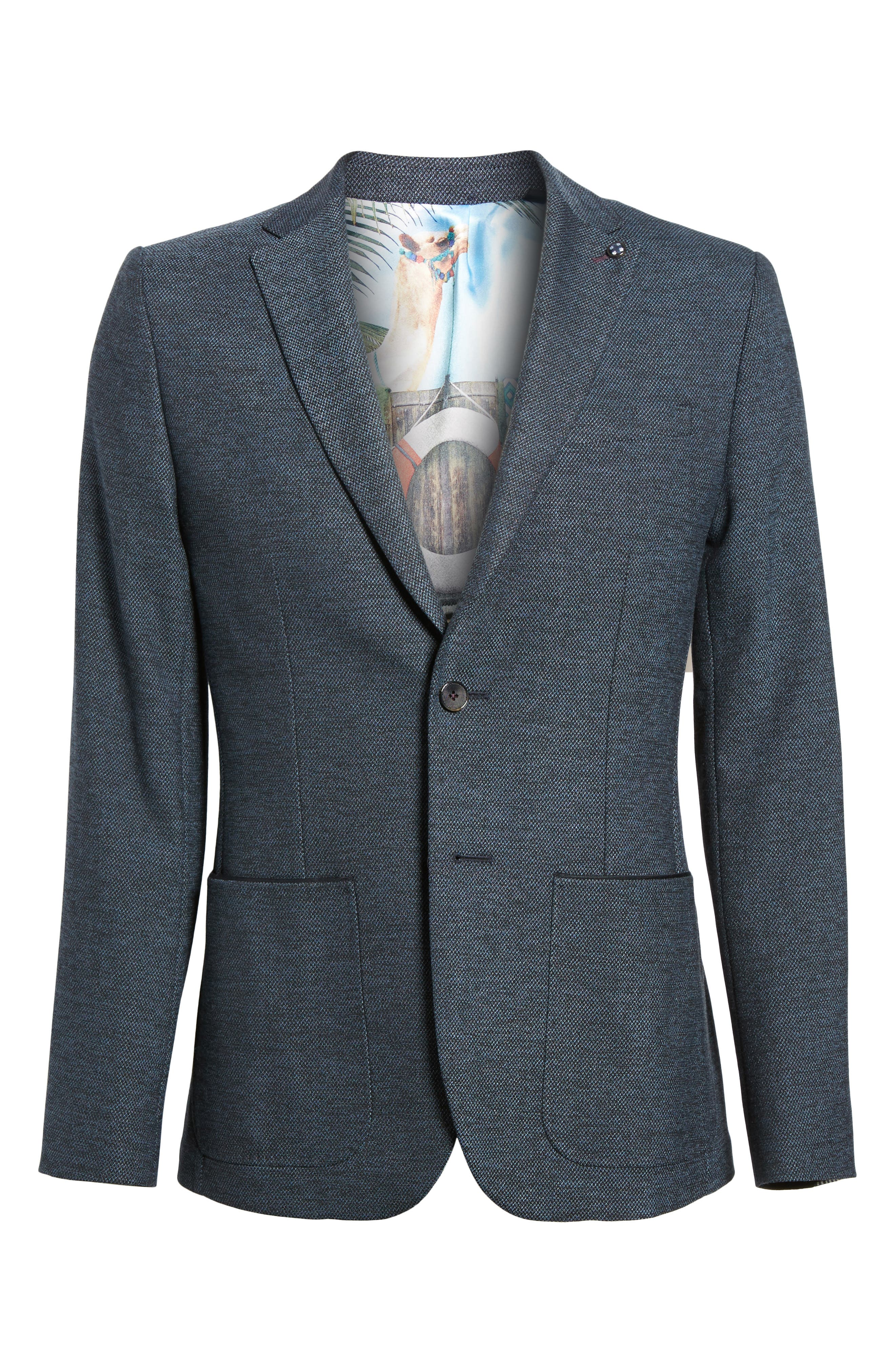 Port Slim Fit Jacket,                             Alternate thumbnail 6, color,                             Blue