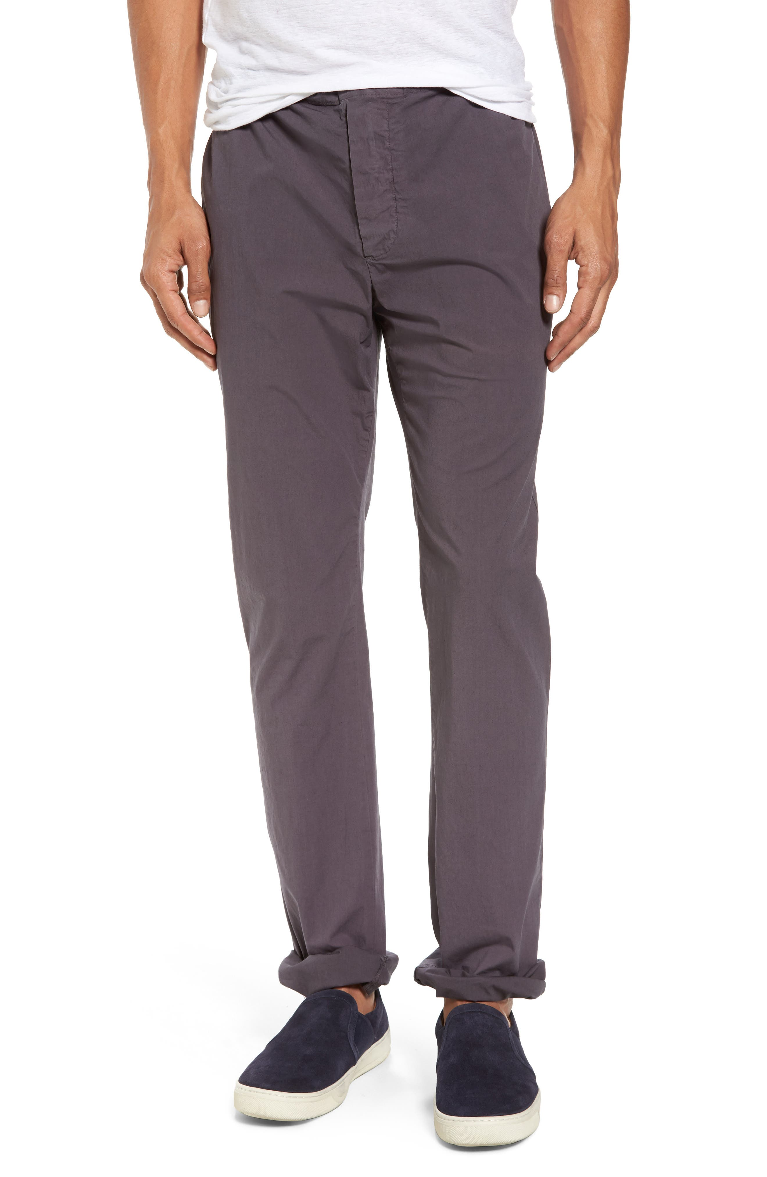 Main Image - James Perse Slim Stretch Poplin Drawcord Pants