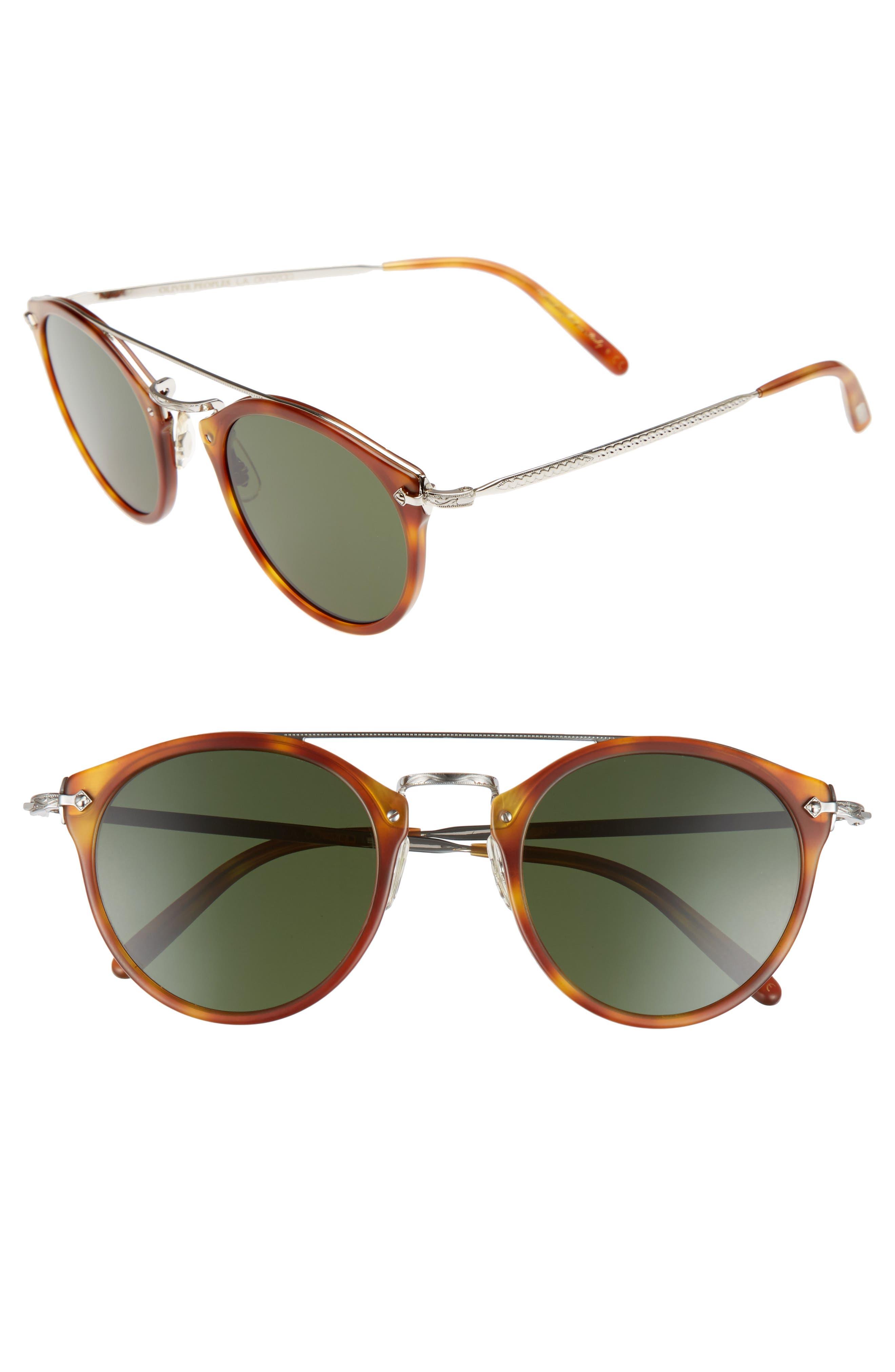Remick 50mm Sunglasses,                         Main,                         color, Semi-Matte Light Brown