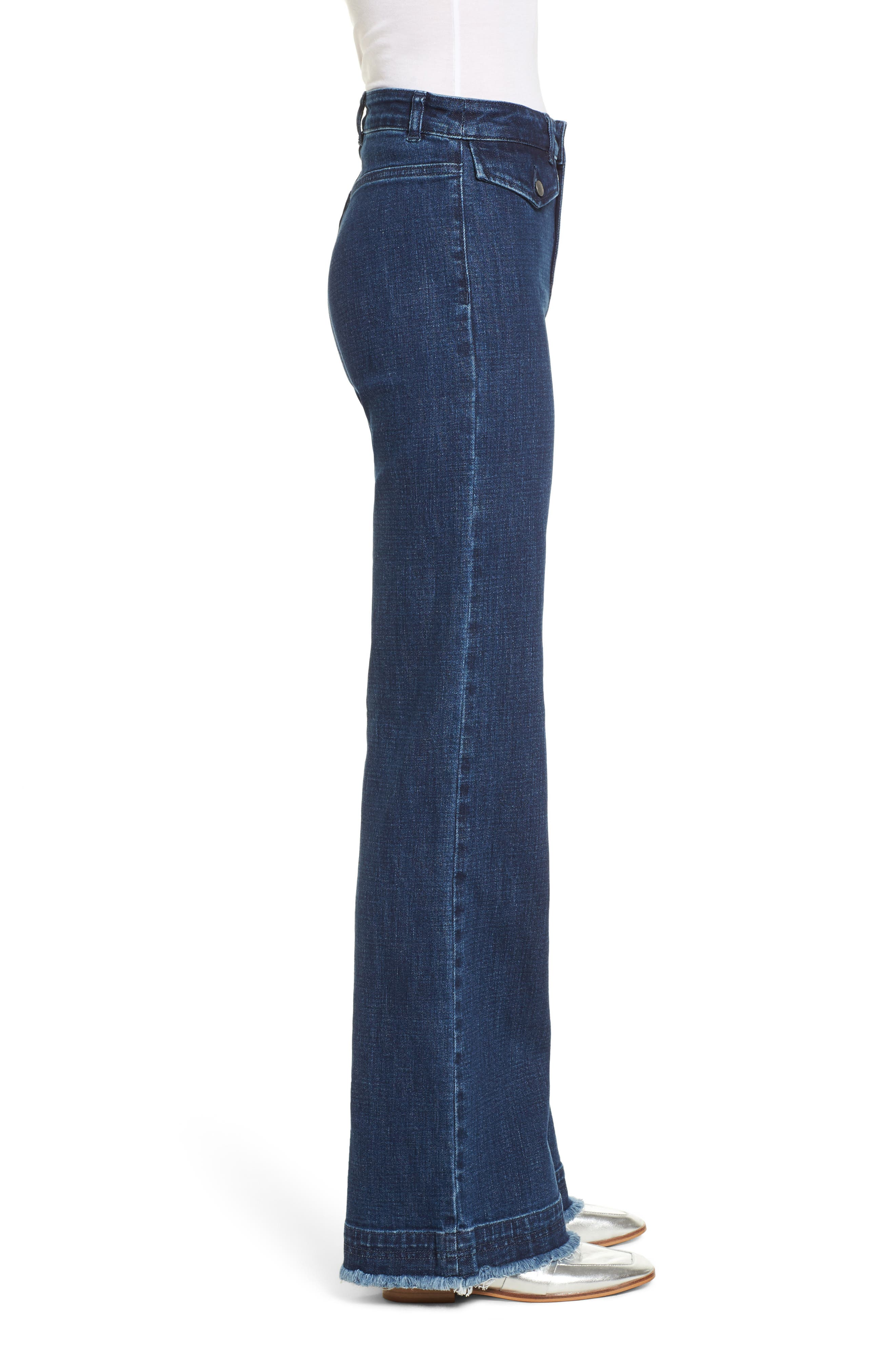 Elwood Wide Leg Jeans,                             Alternate thumbnail 3, color,                             Indigo