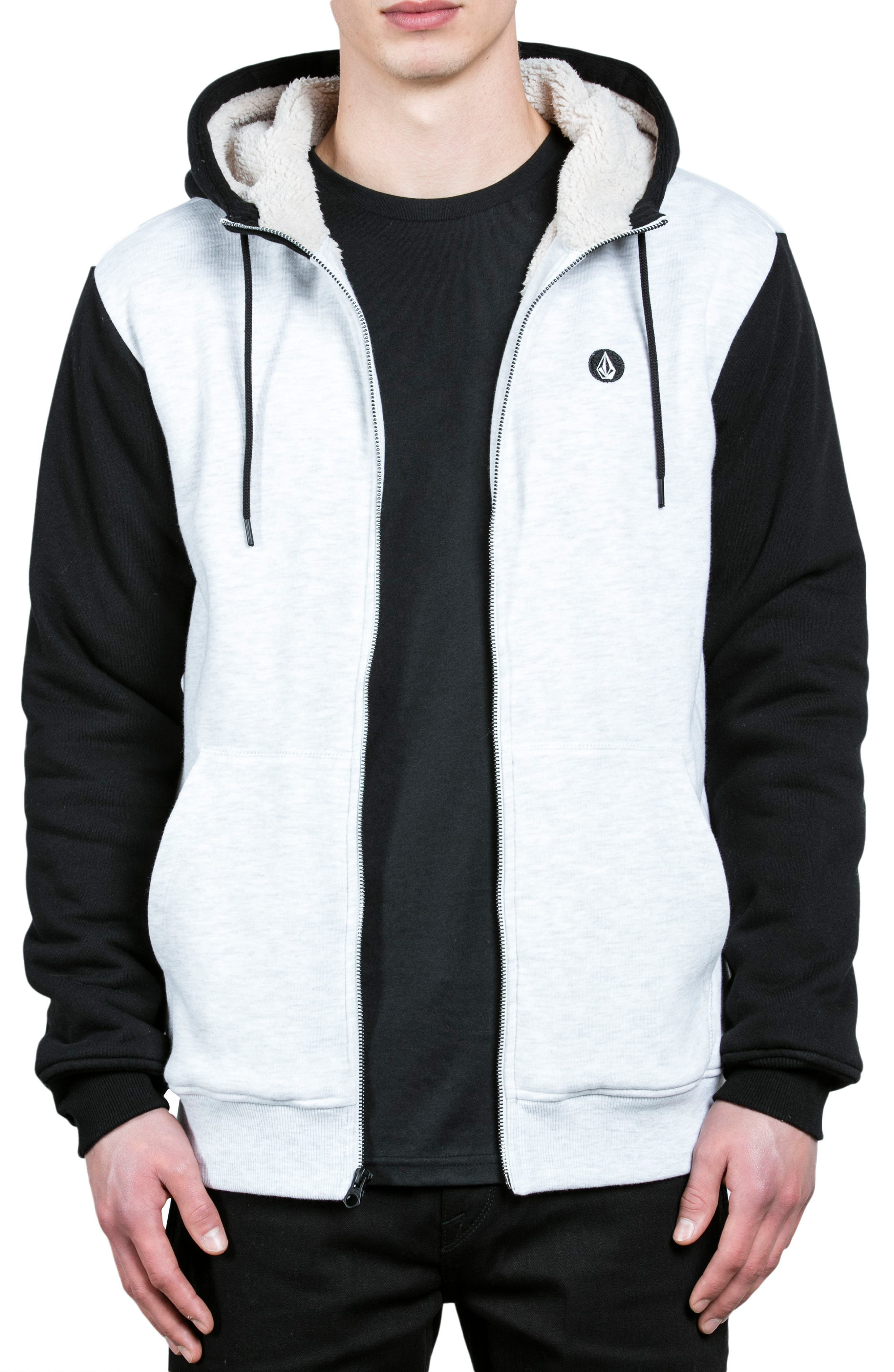 Single Stone Zip Hoodie,                             Alternate thumbnail 2, color,                             White